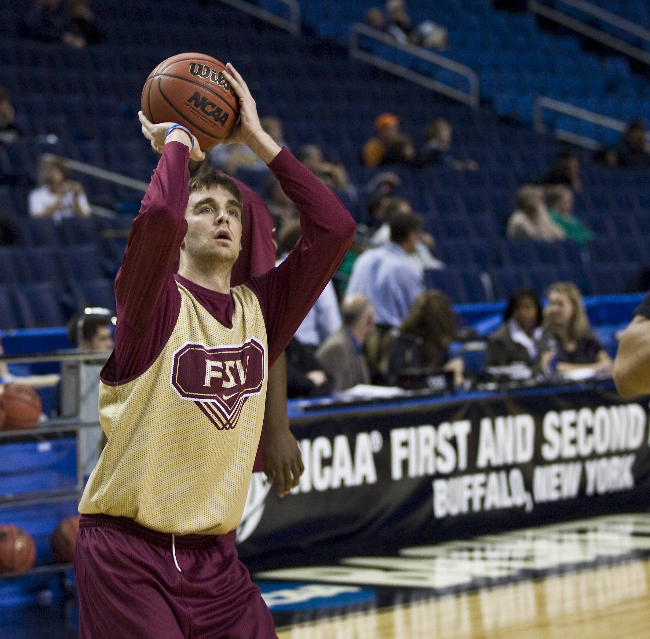 Junior Andrew Rutledge takes a shot during FSU's afternoon practice.