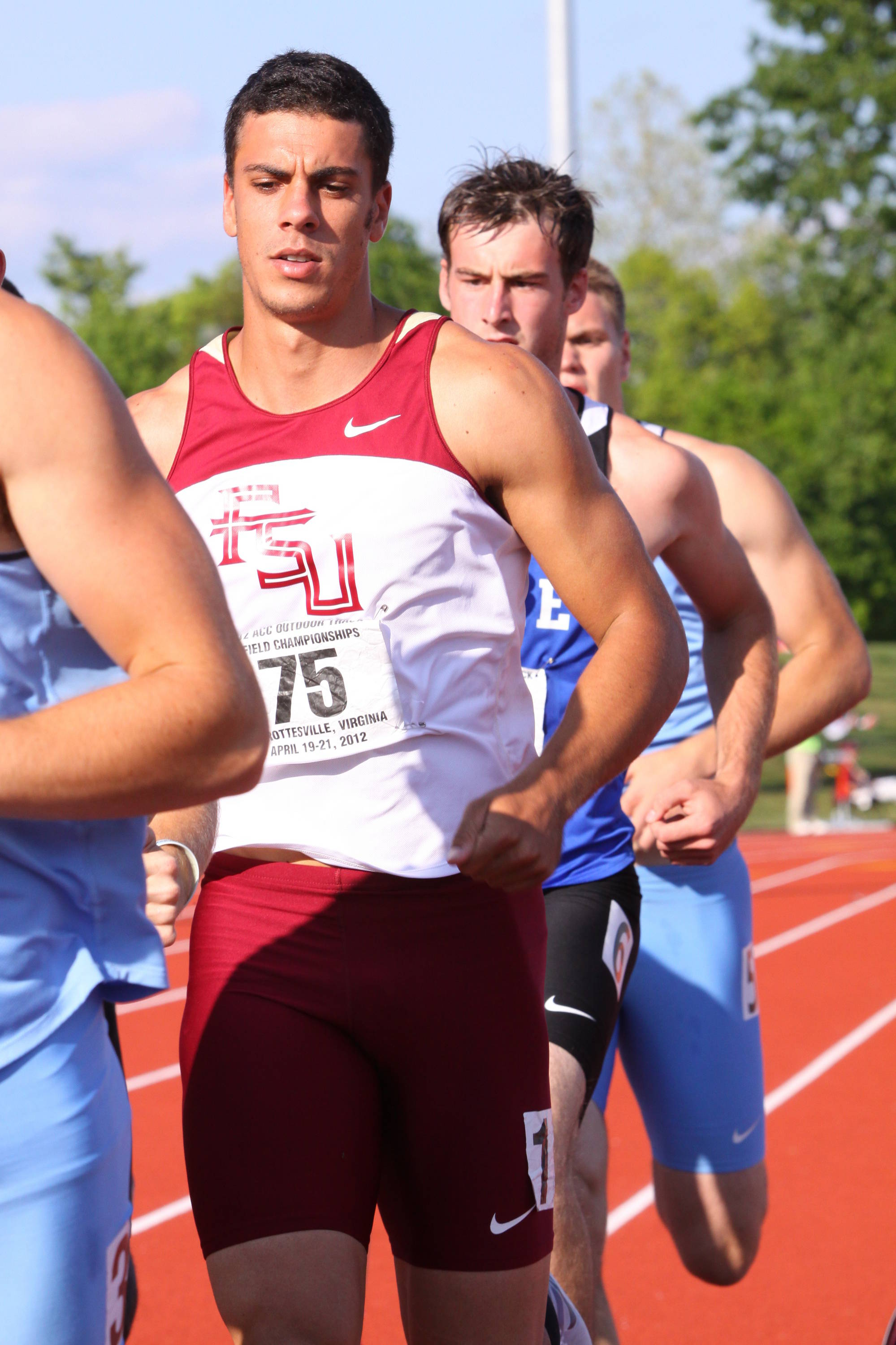 With a comfortable 517-point lead, Barroilhet turned his attention to the 8,000-point standard in the 1500. Needing only 559 to get there, he cranked out a 4:49.19, good for 624 points. Barroilhet's 8,065-point total shattered the 20-year-old ACC mark.