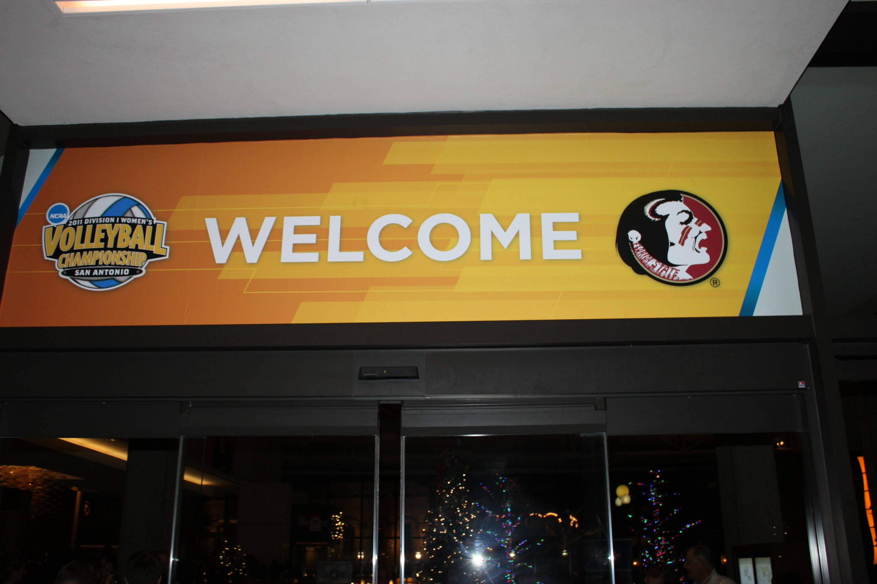 The Hyatt Regency welcomes the Seminoles with open arms