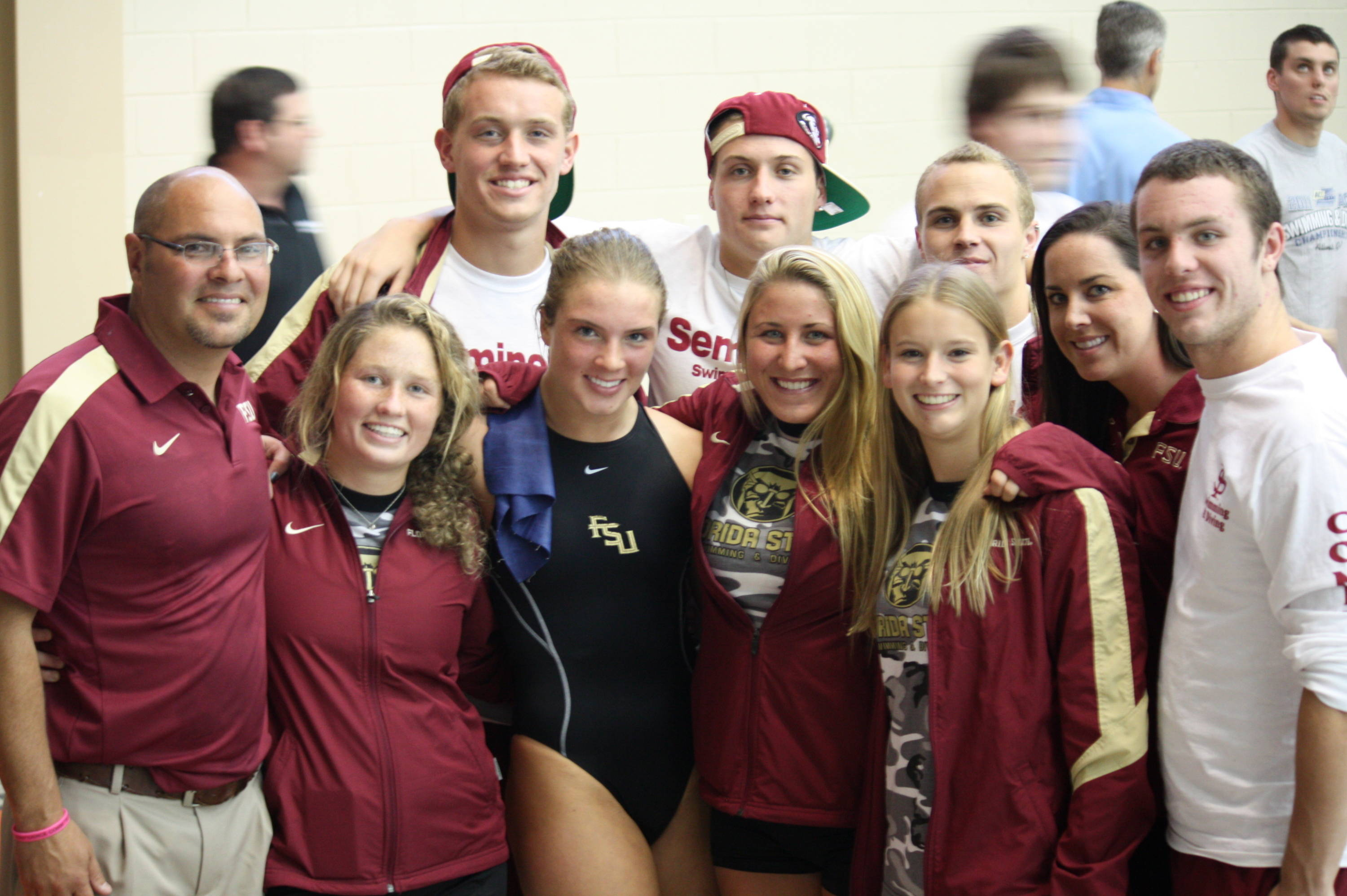 The FSU diving team after Katrina Young won the platform event.