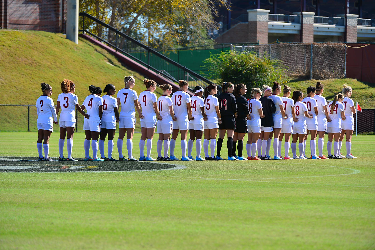 Florida State during the national anthem Sunday afternoon against Texas A&M