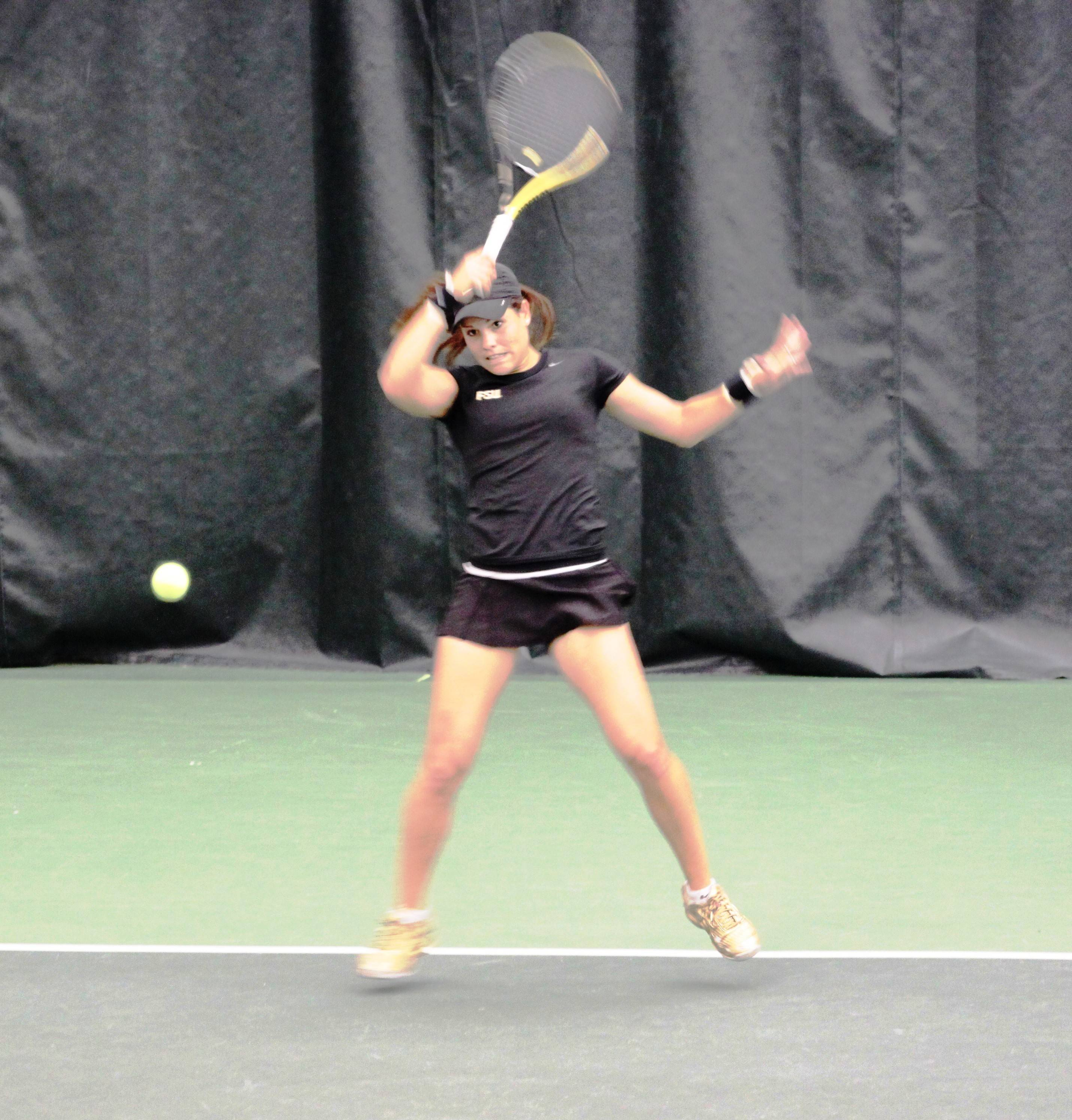 Noemie Scharle won the first point for the Seminoles.