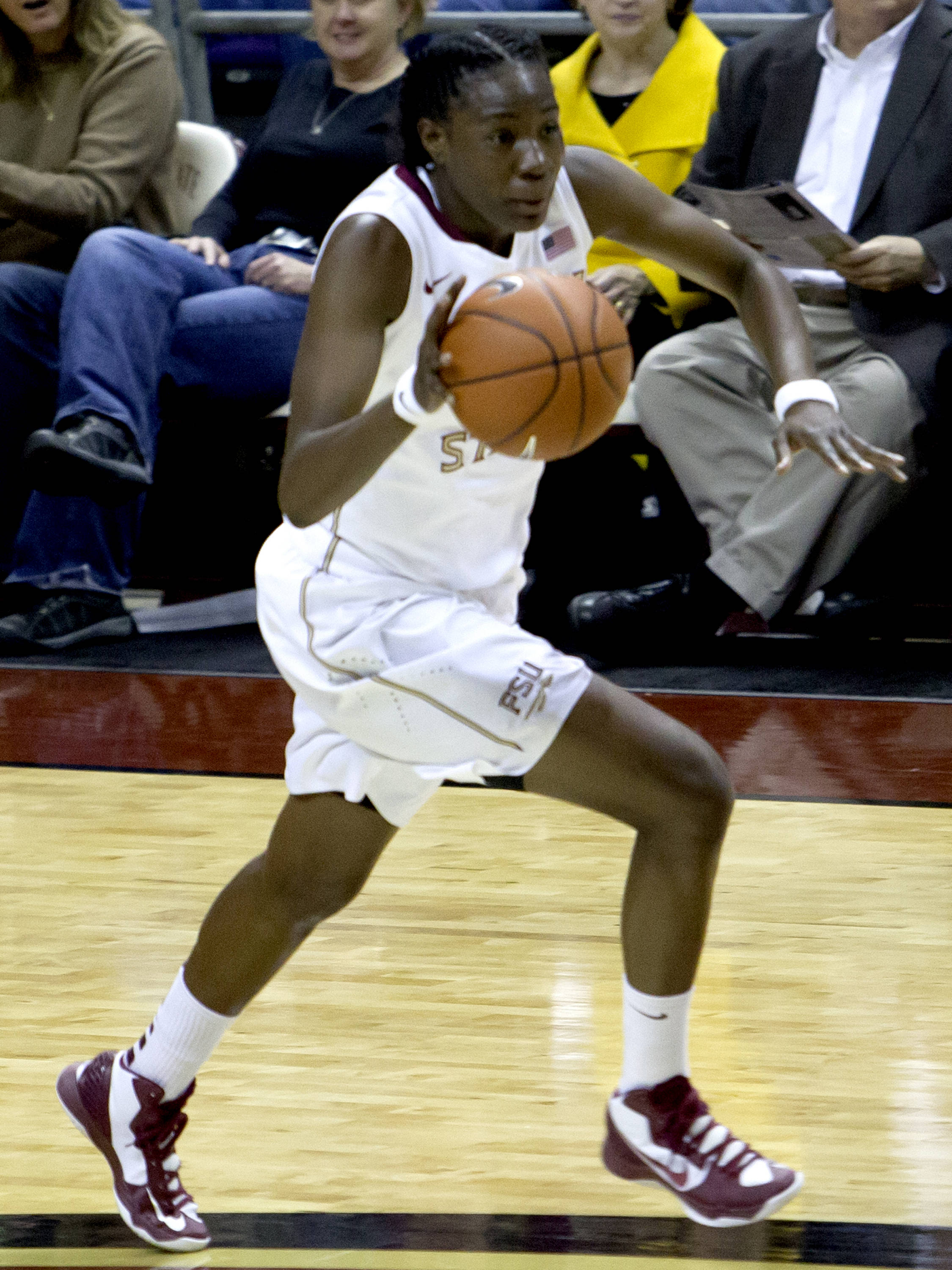 Natasha Howard (33), FSU vs NC, 02/17/13. (Photo by Steve Musco)