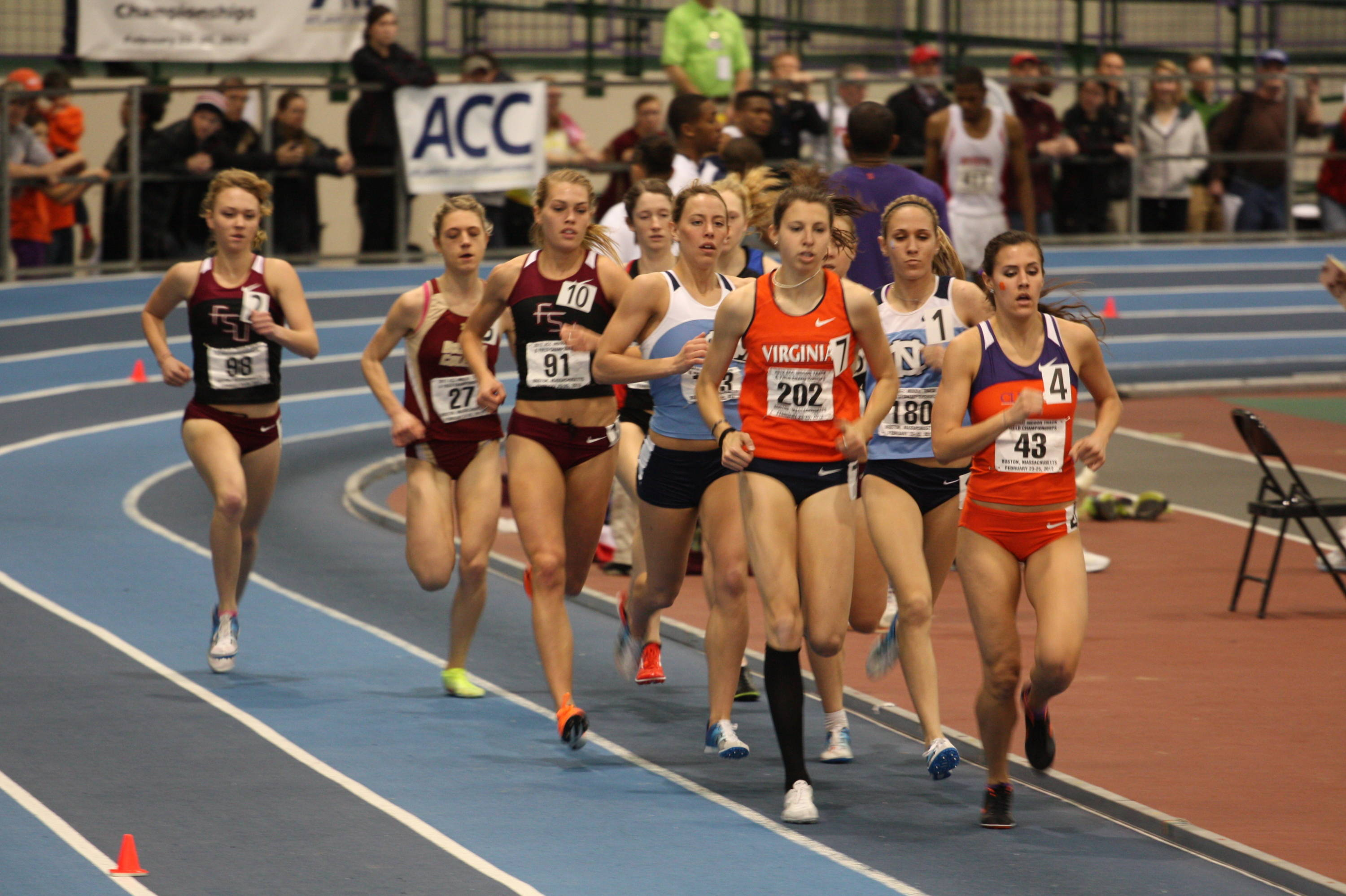 FSU's three freshmen - Colleen Quigley, Linden Hall and Aubree Worden - all scored in the mile for the 'Noles.