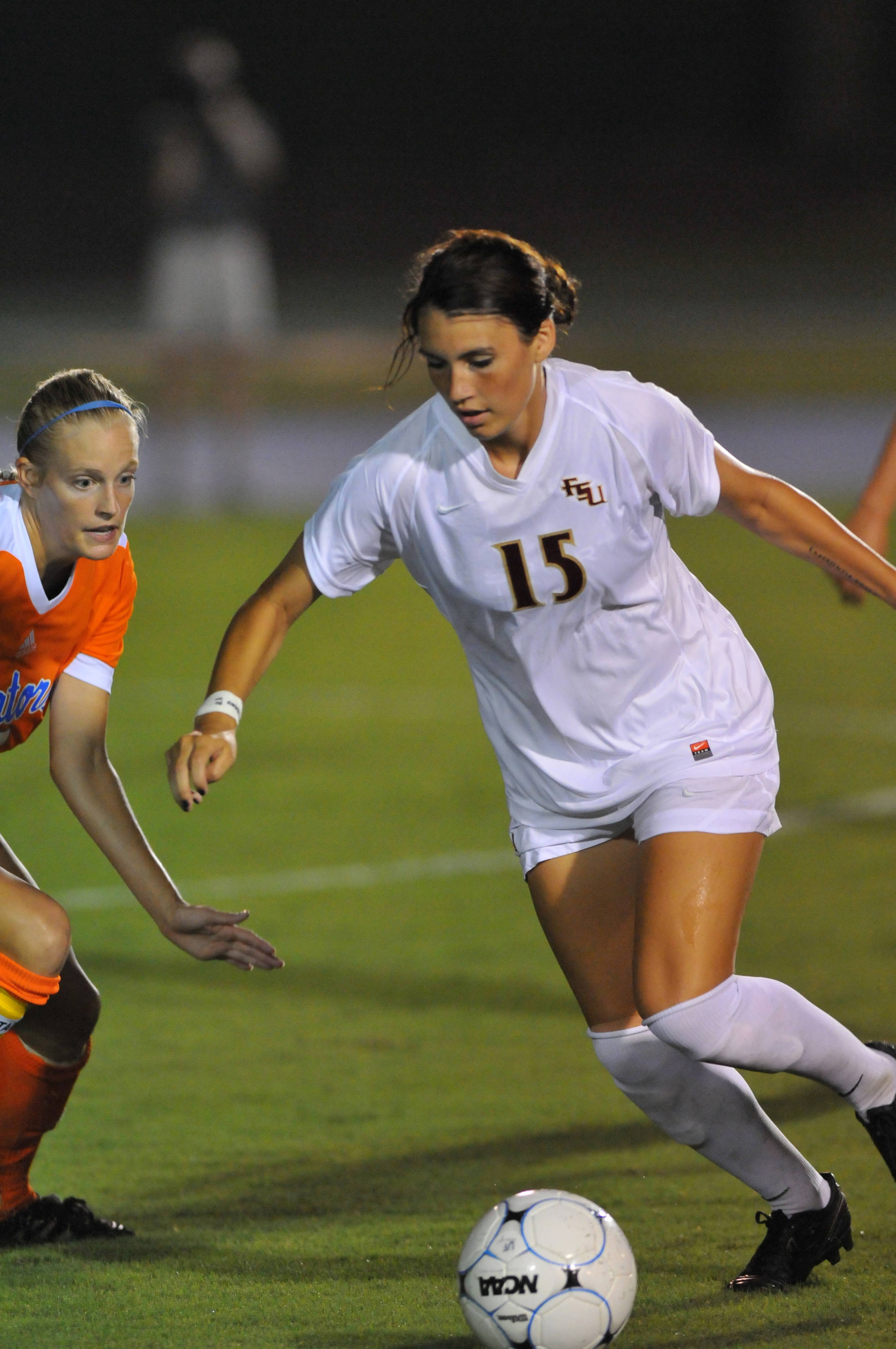 Tiana Brockway controls the ball against the Gators.