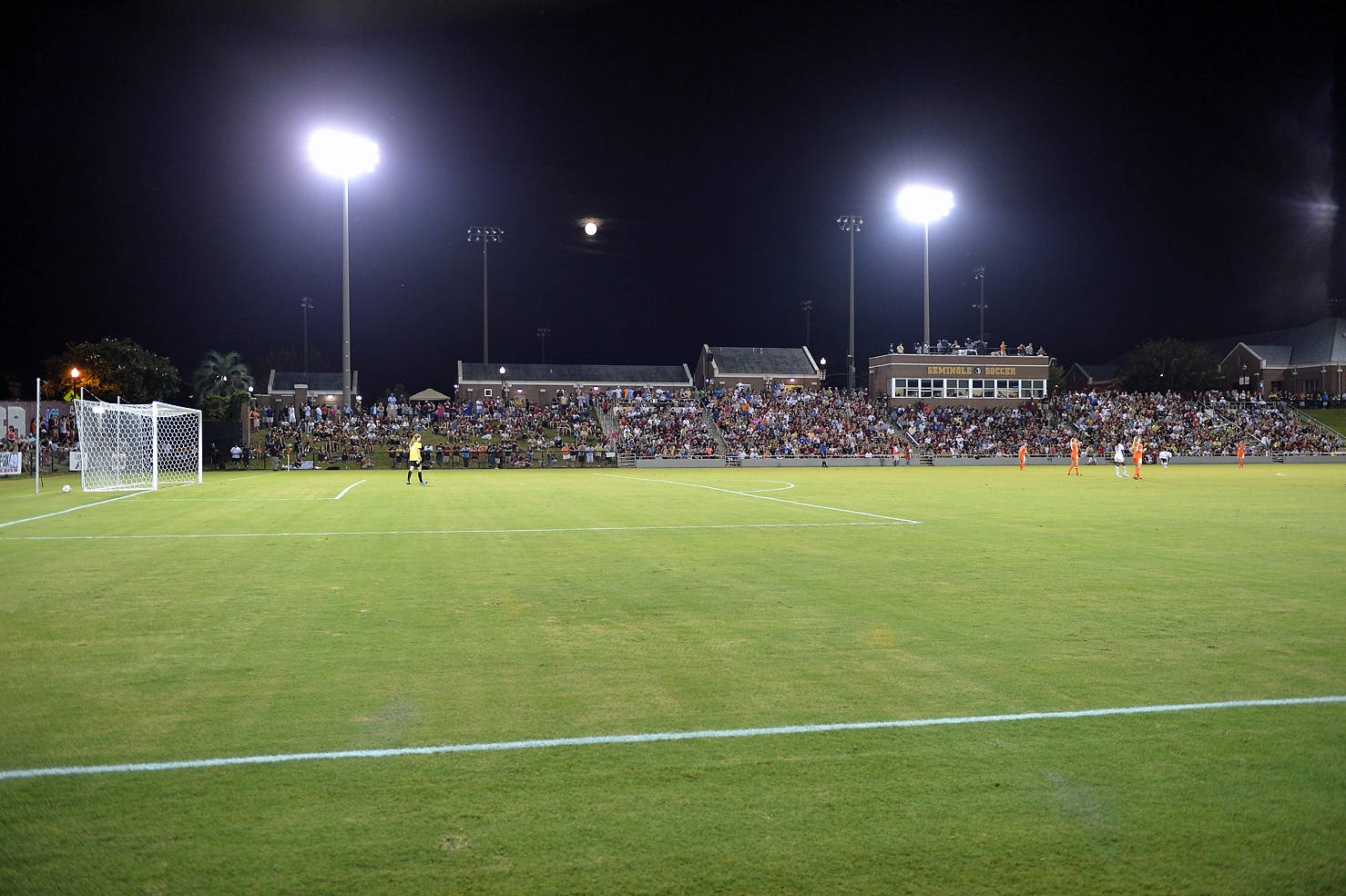 Another look at the sell out crowd inside the Seminole Soccer Complex Friday night.