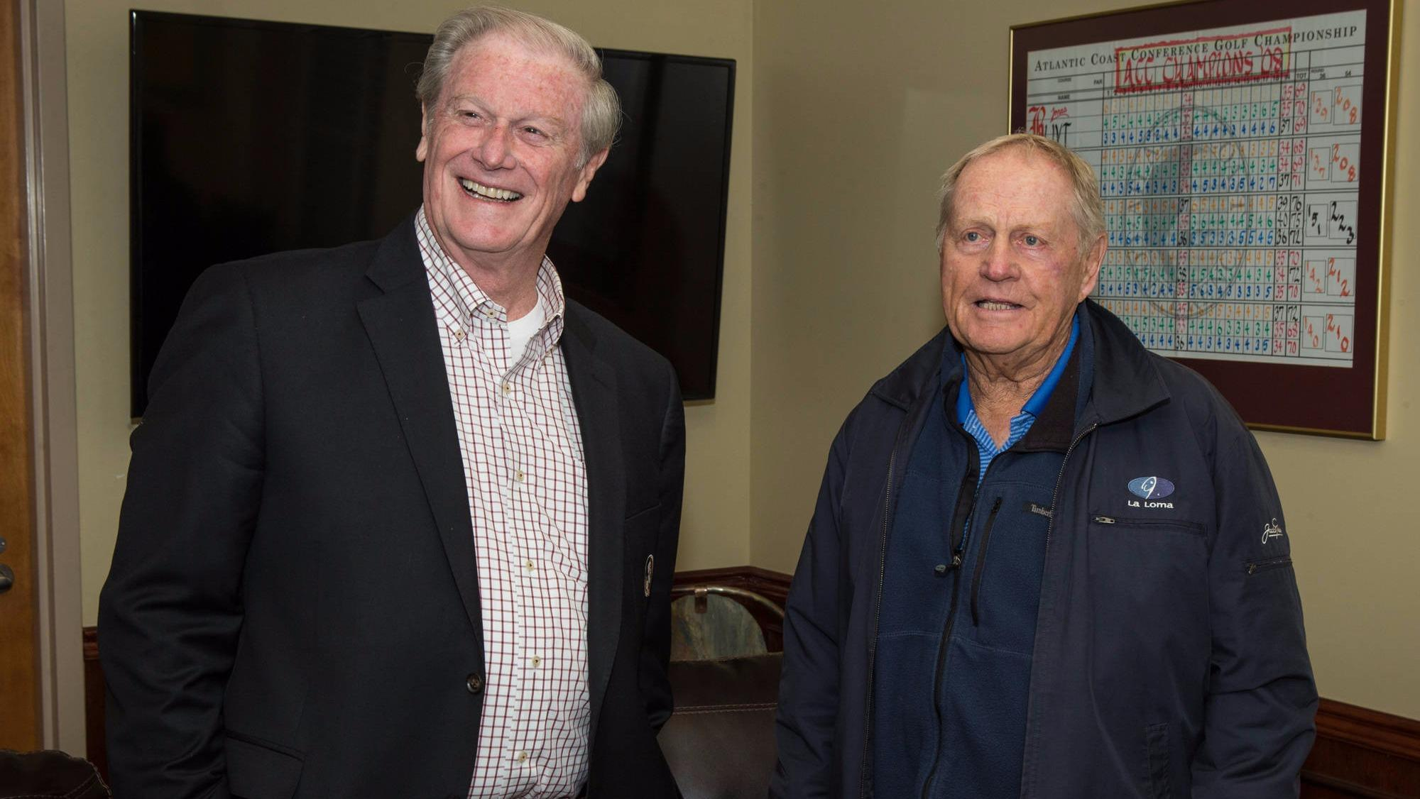 Jack Nicklaus meets with Florida State University President John Thrasher