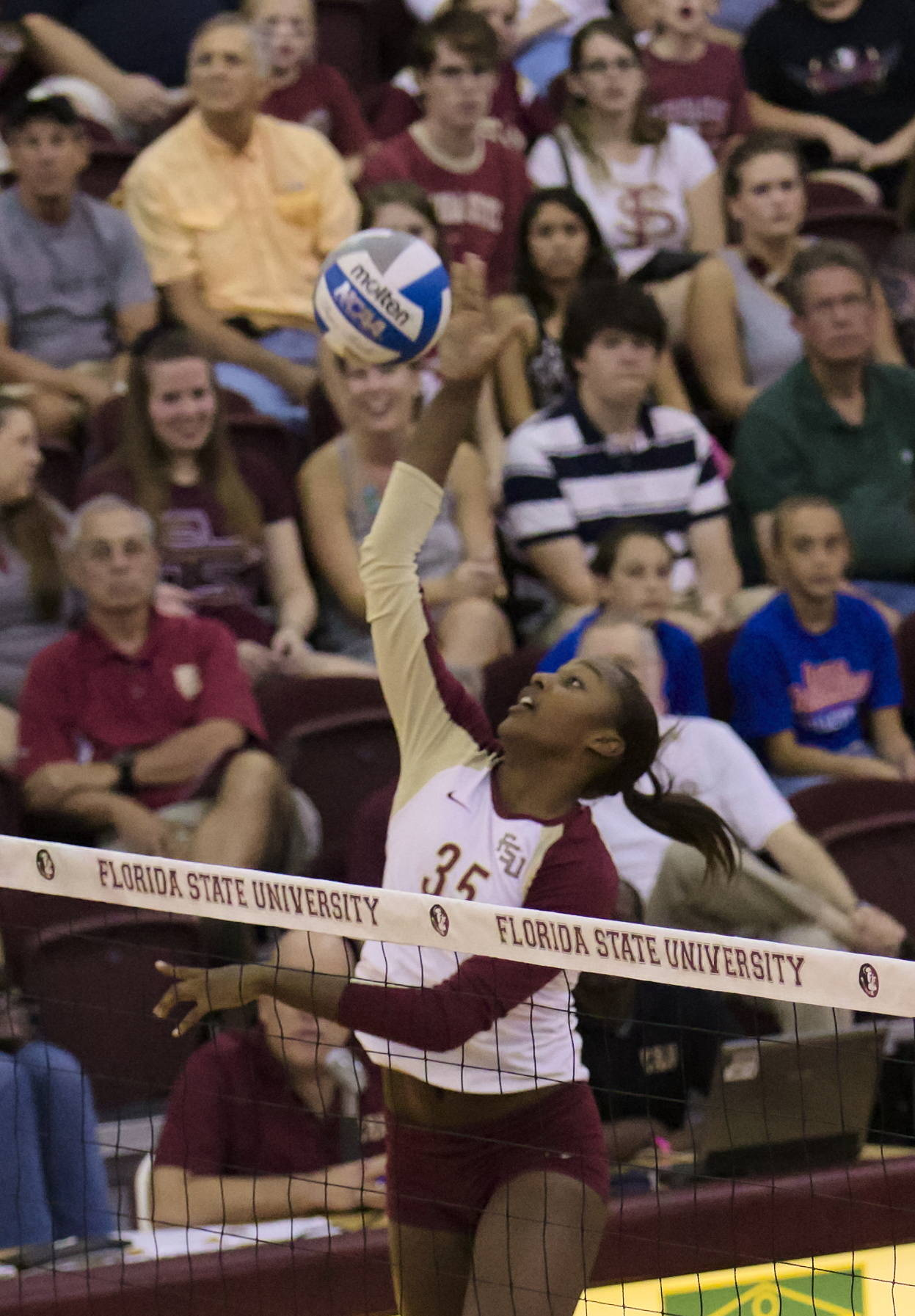 Mara Green (35), FSU vs Virginia, 10/26/12 (Photo by Steve Musco)