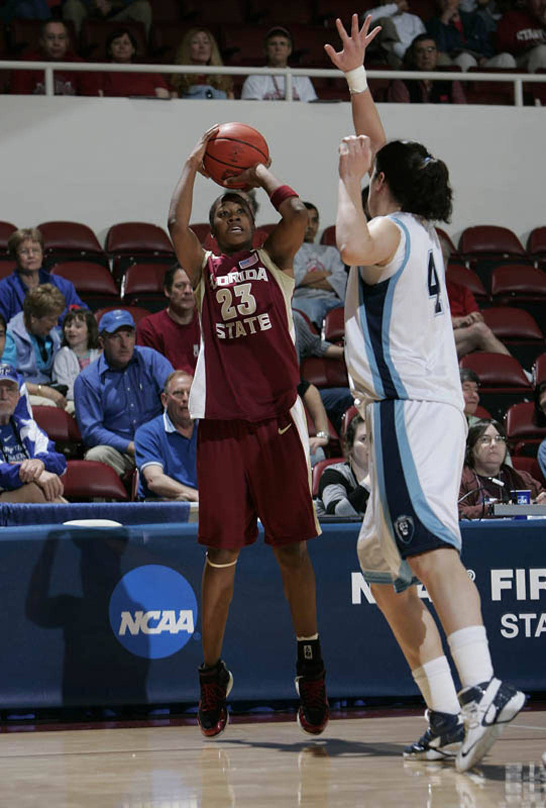 Alicia Gladden had 18 points and with two steals, became FSU's all-time leader in steals.