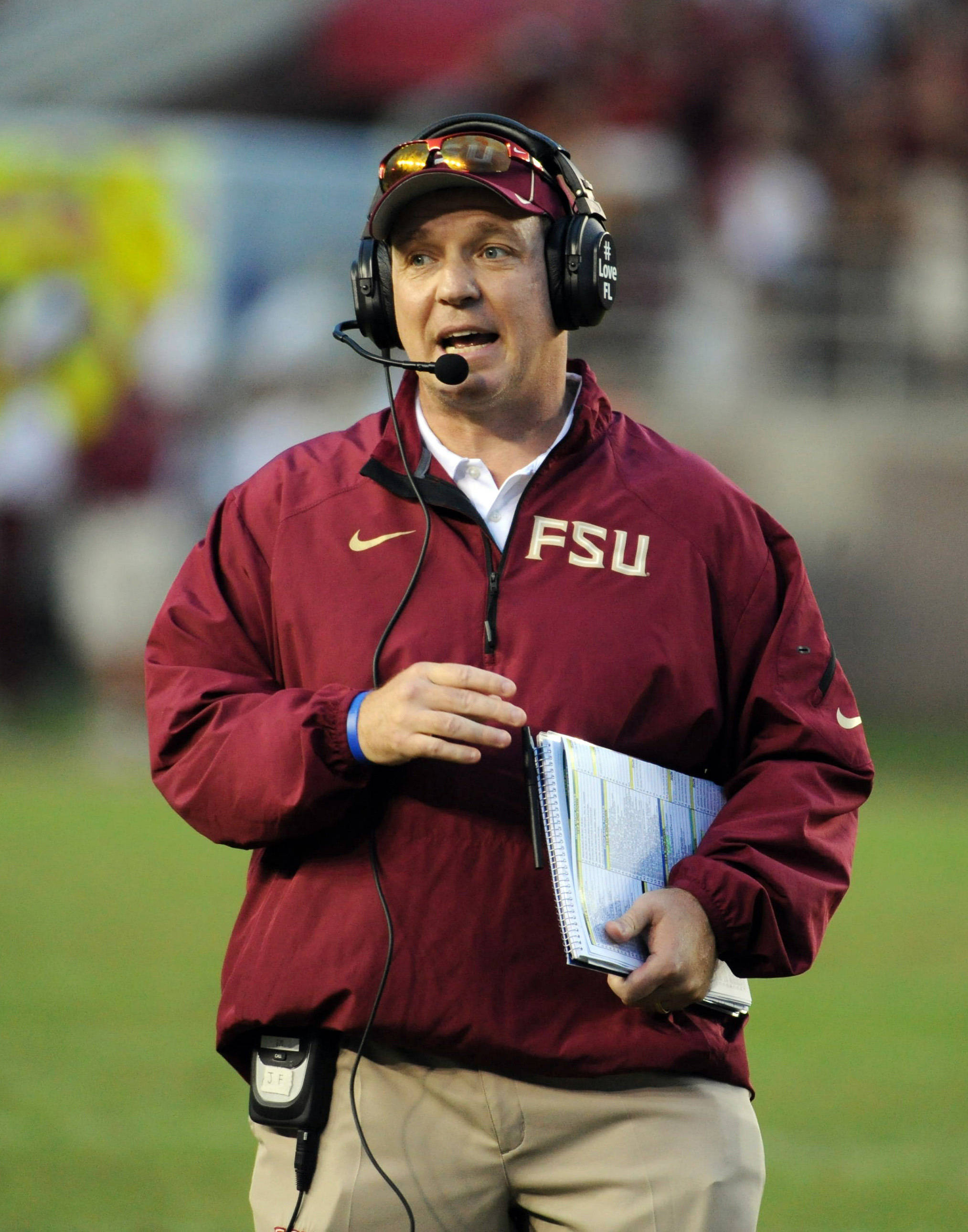 Jimbo Fisher looks on. Mandatory Credit: Melina Vastola-USA TODAY Sports