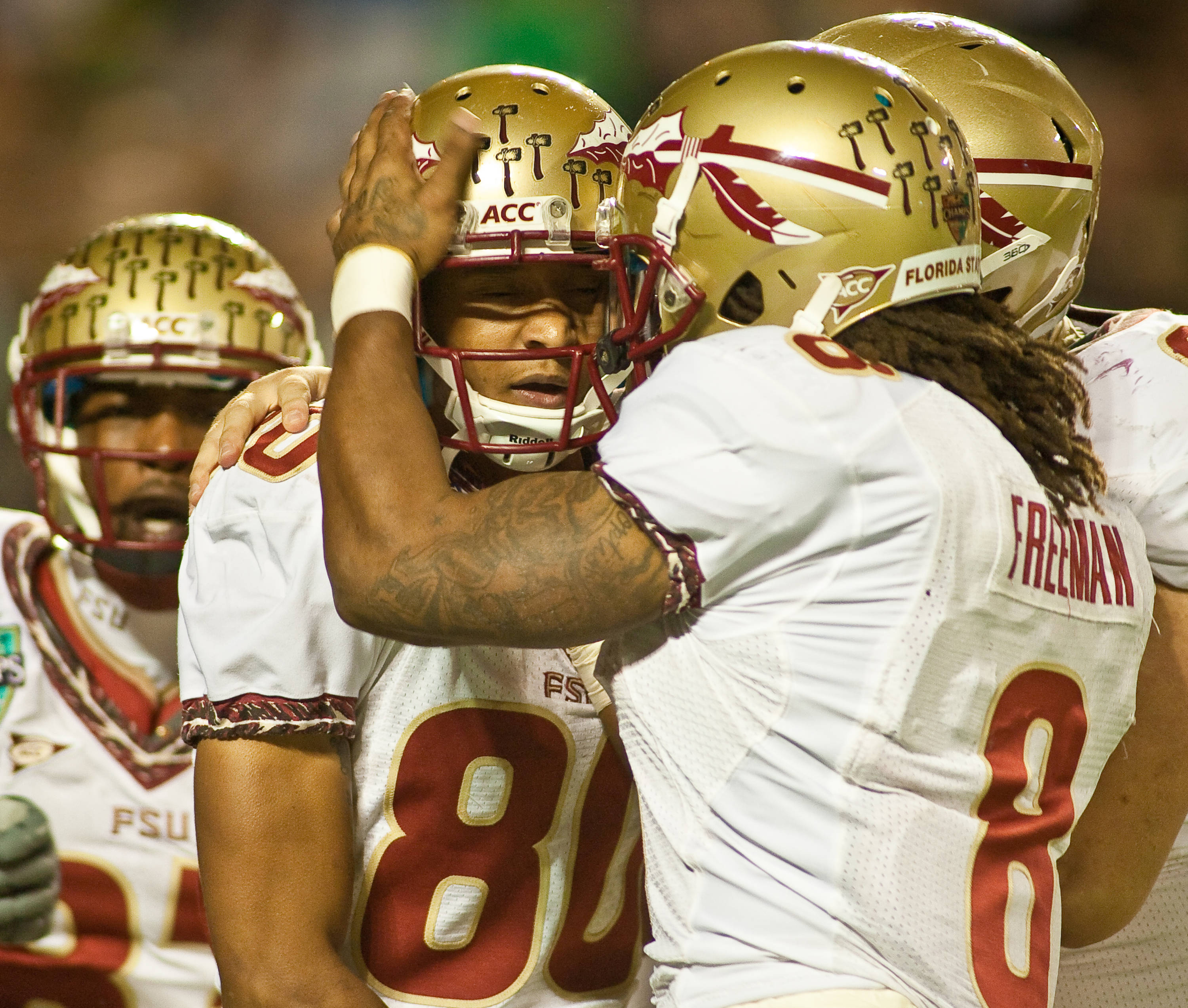 Rashad Greene celebrates his touchdown catch
