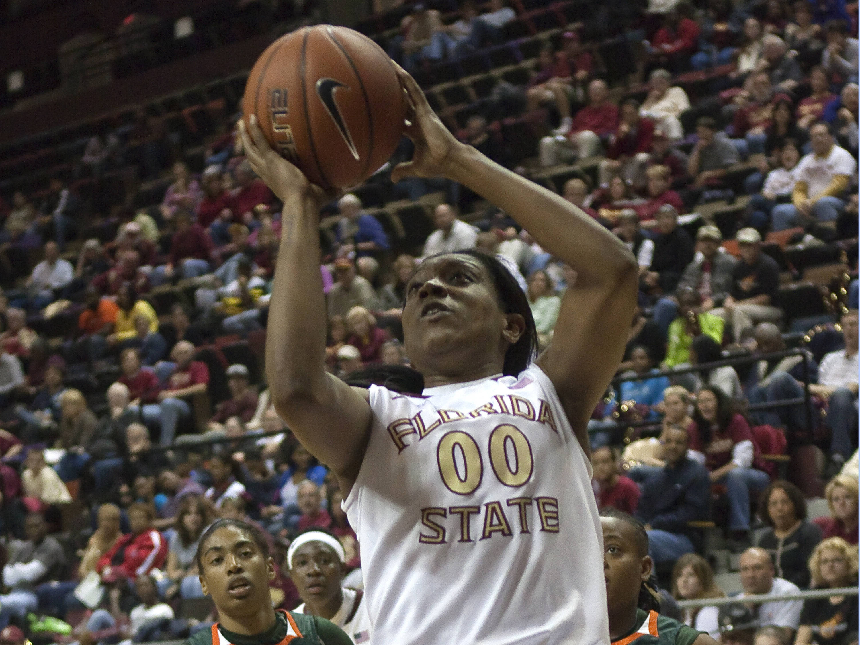 Chasity Clayton (00), FSU vs Miami,  01/15/2012