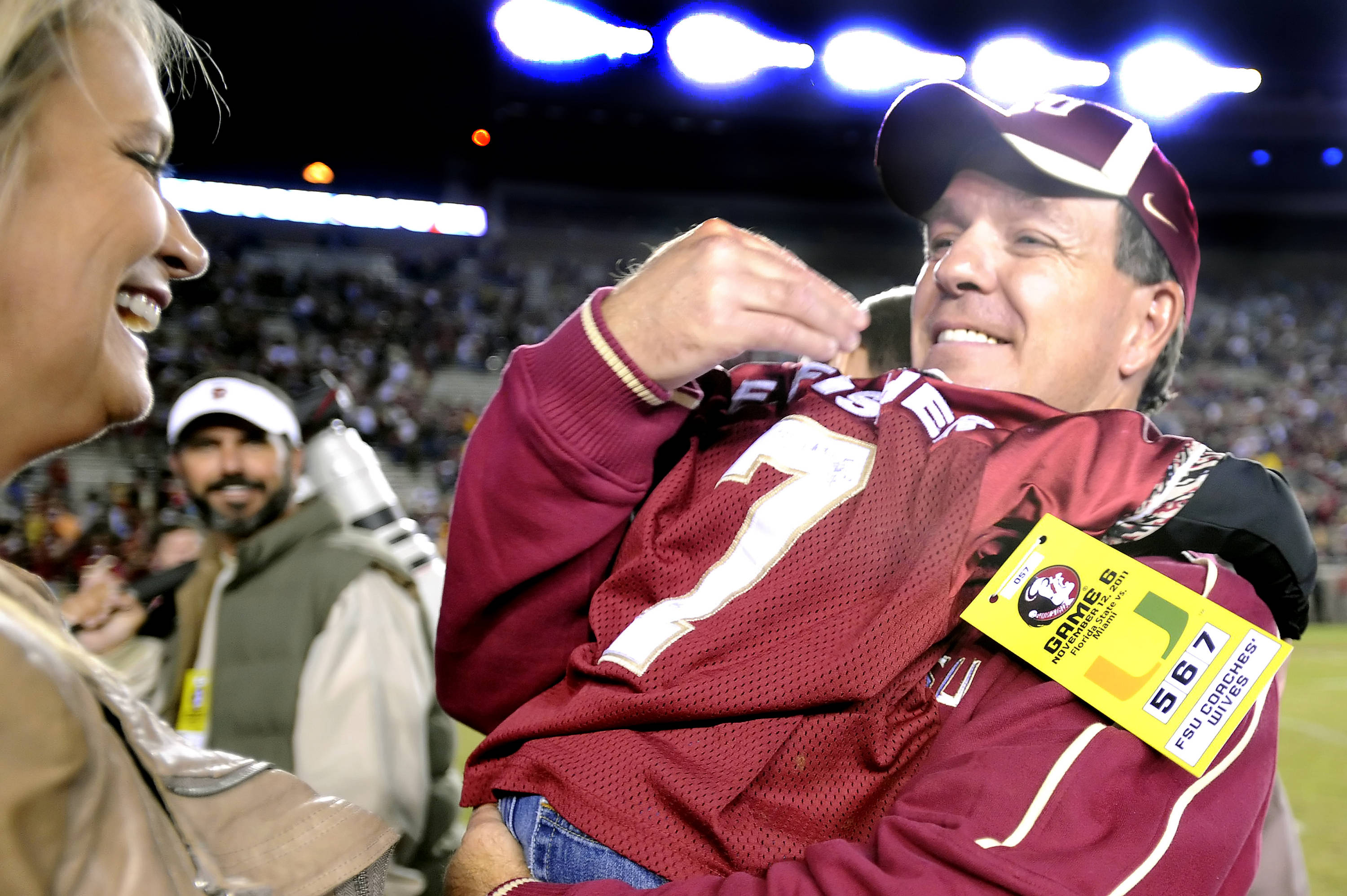 Jimbo Fisher celebrates with family
