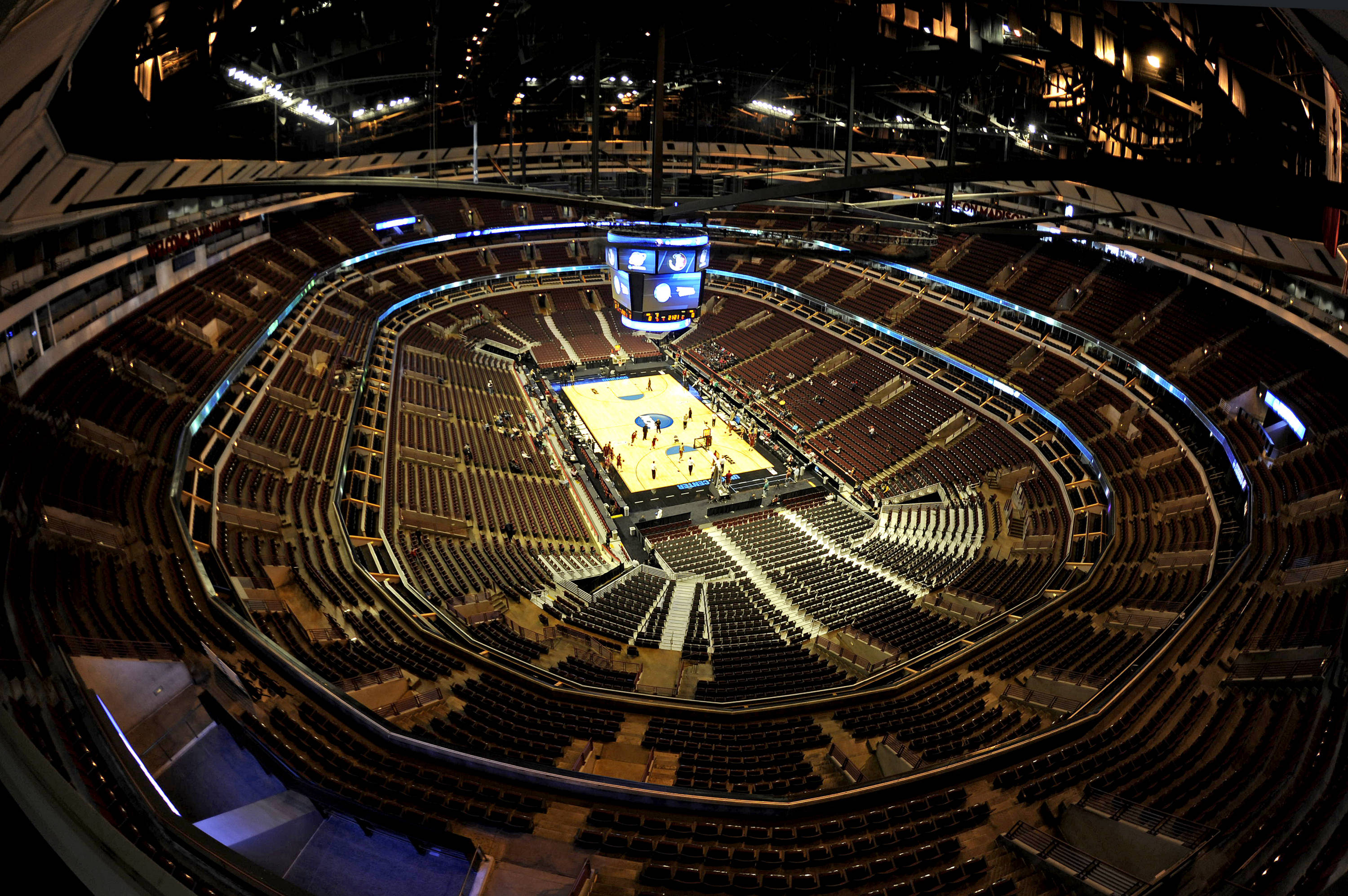 A view from the top of the United Center