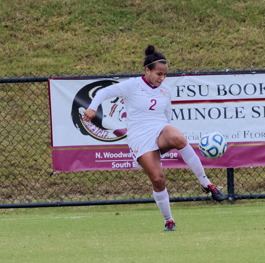 Ines Jaurena (2), FSU vs BC, ACC Tournament, 10/28/12. (Photo by Steve Musco)