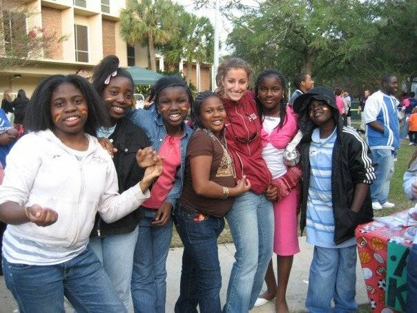 Student-athletes volunteered their time for â?oeRenegade Recess,â?? an event hosted by the FSU Homecoming Committee.