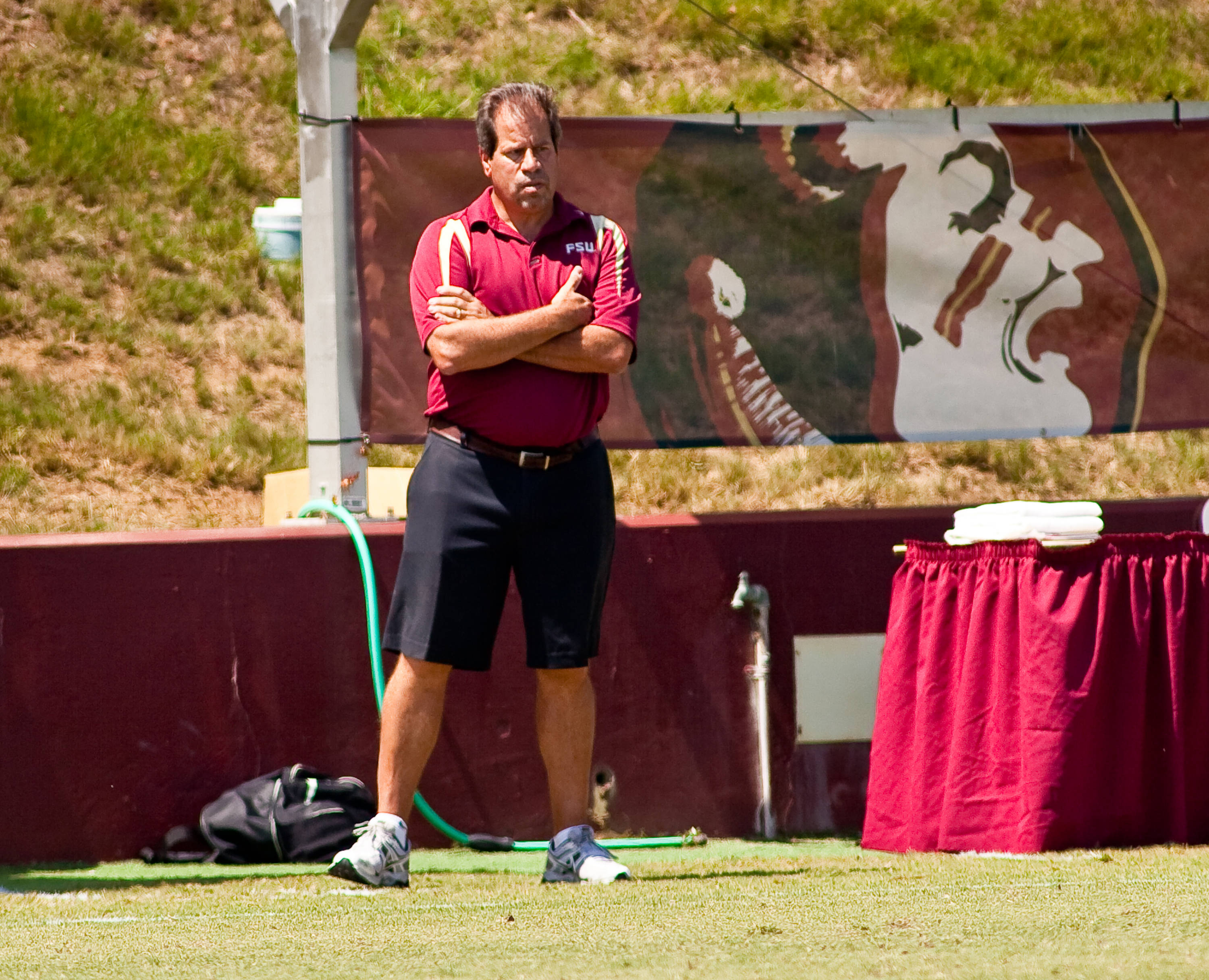 Head coach Mark Krikorian