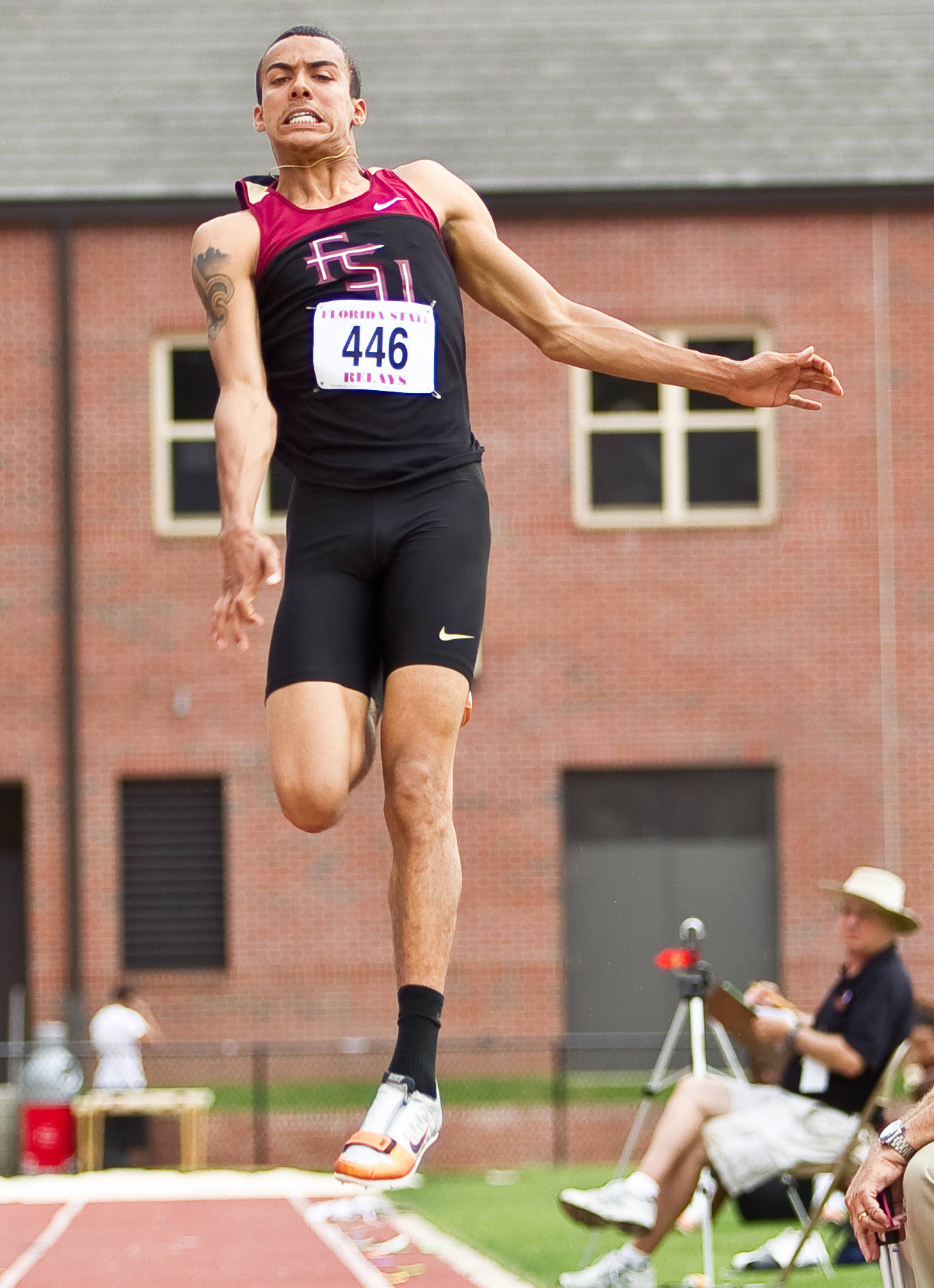 FSU sophomore Phillip Young finished tied for second in the long jump Friday.