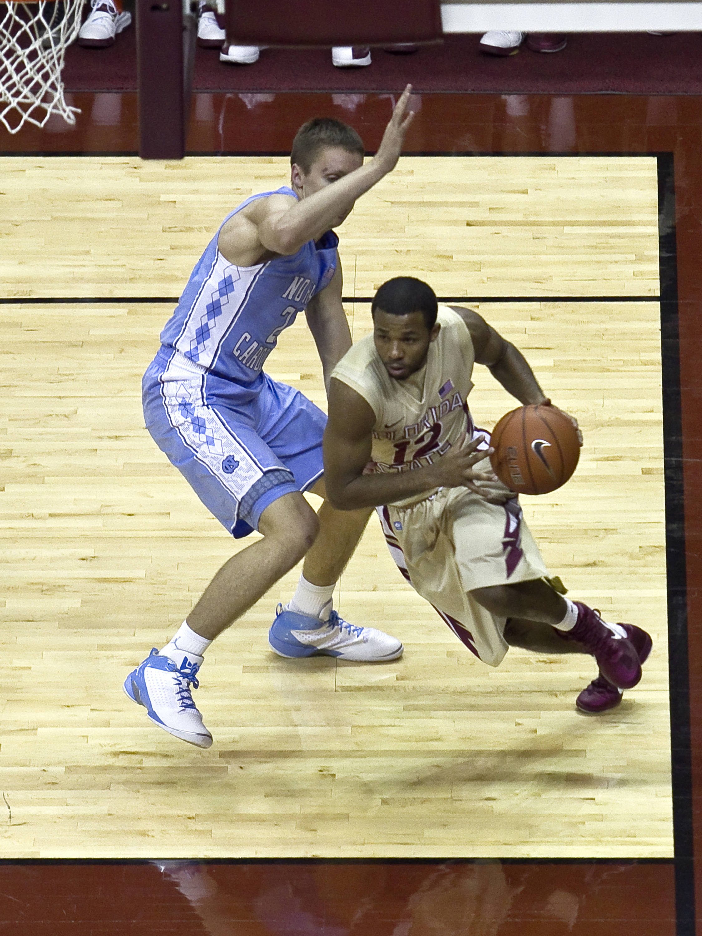 Jeff Peterson (12), FSU vs NC,  01/14/2012