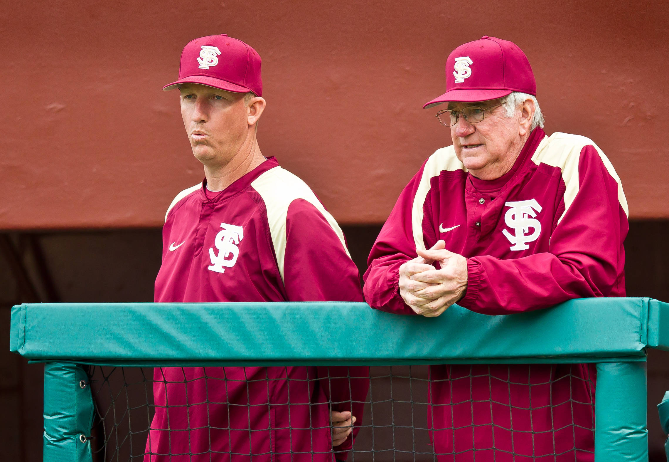 Associate head coach Mike Bell with assistant coach Mike Martin.