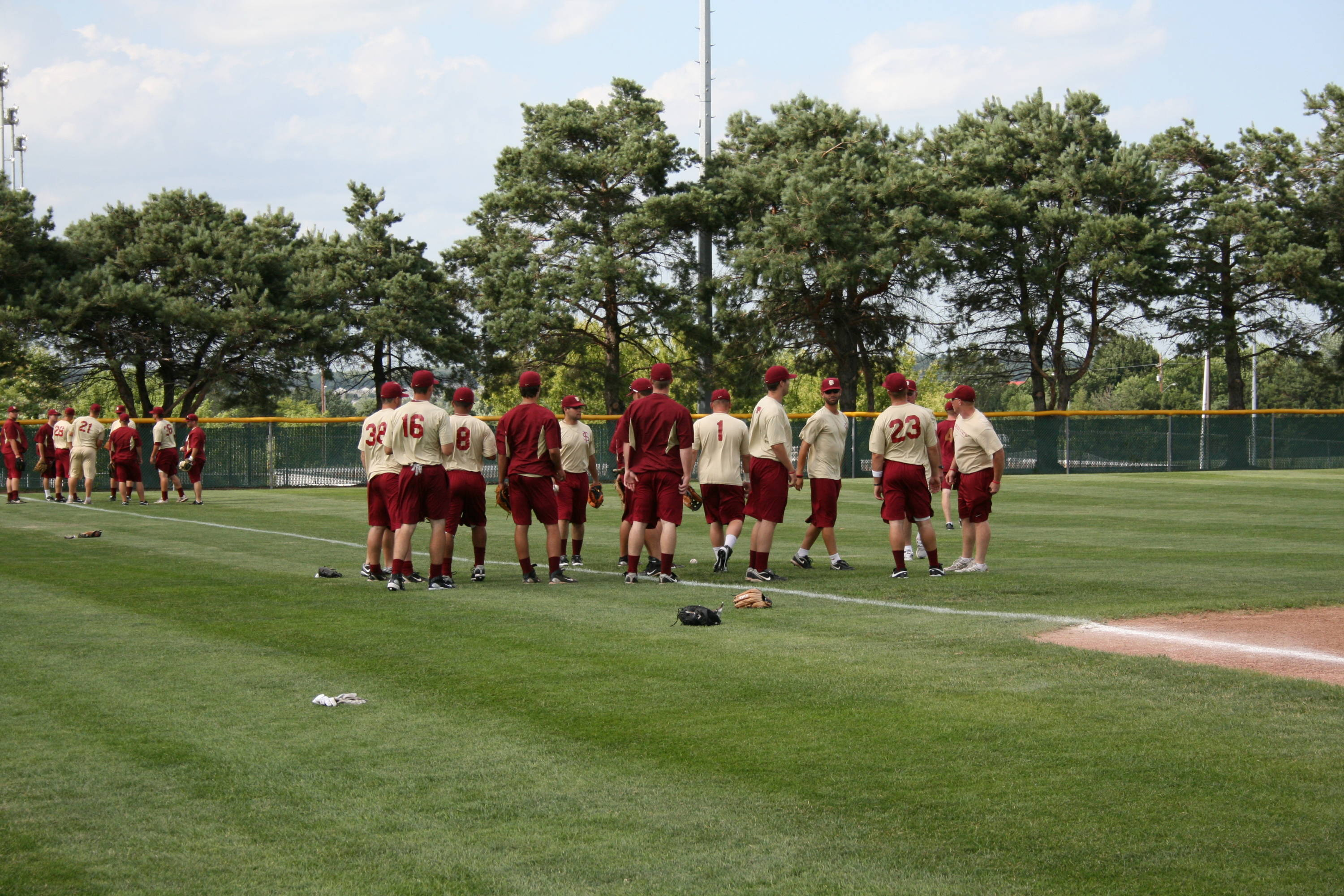Seminoles at practice on Friday