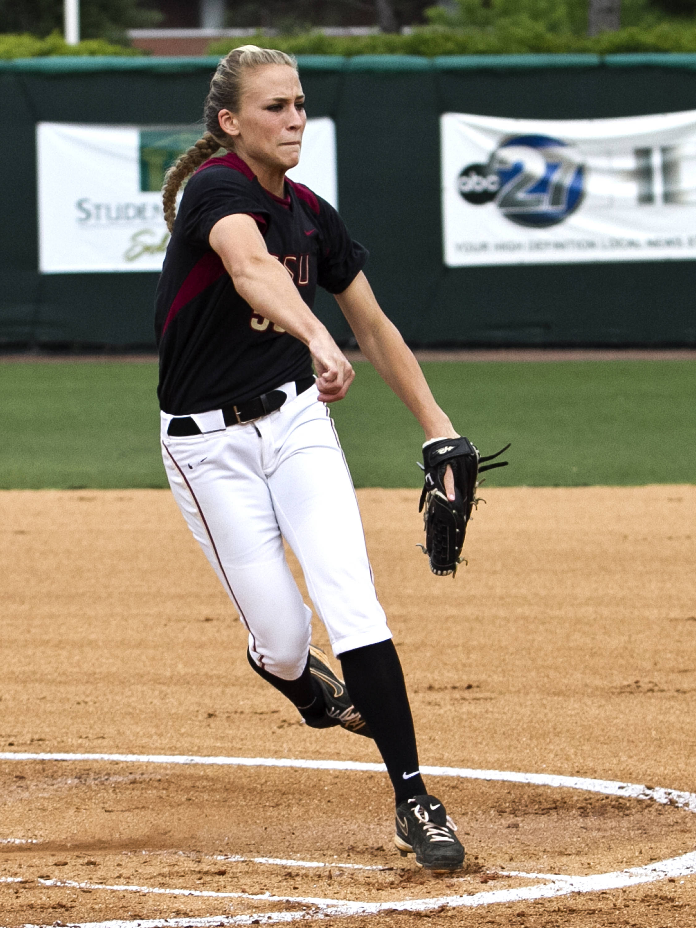 Monica Perry, FSU Softball vs FLA  04/02/2012