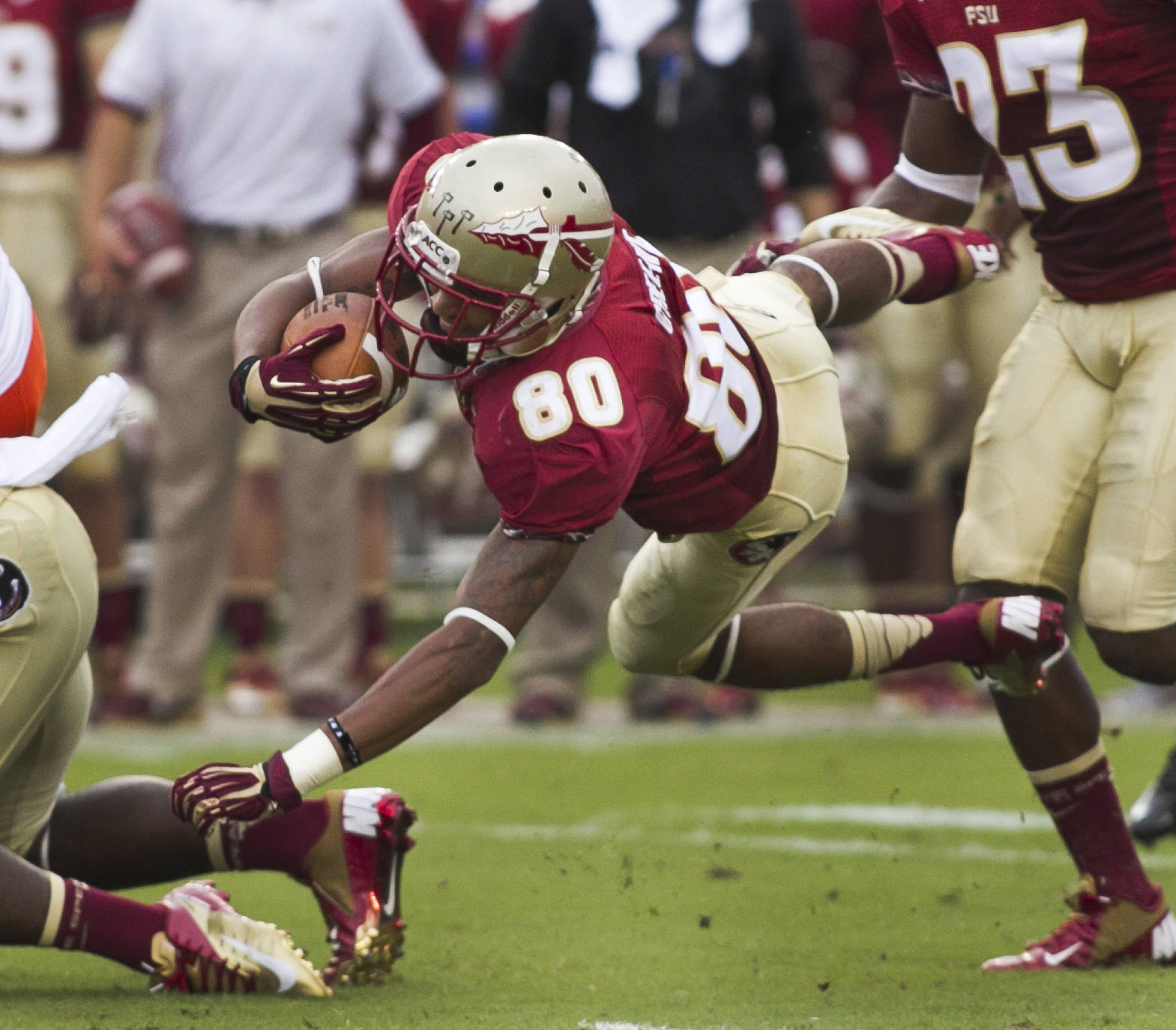 Rashad Greene (80),  FSU vs Savannah State, 9/8/12 (Photo by Steve Musco)