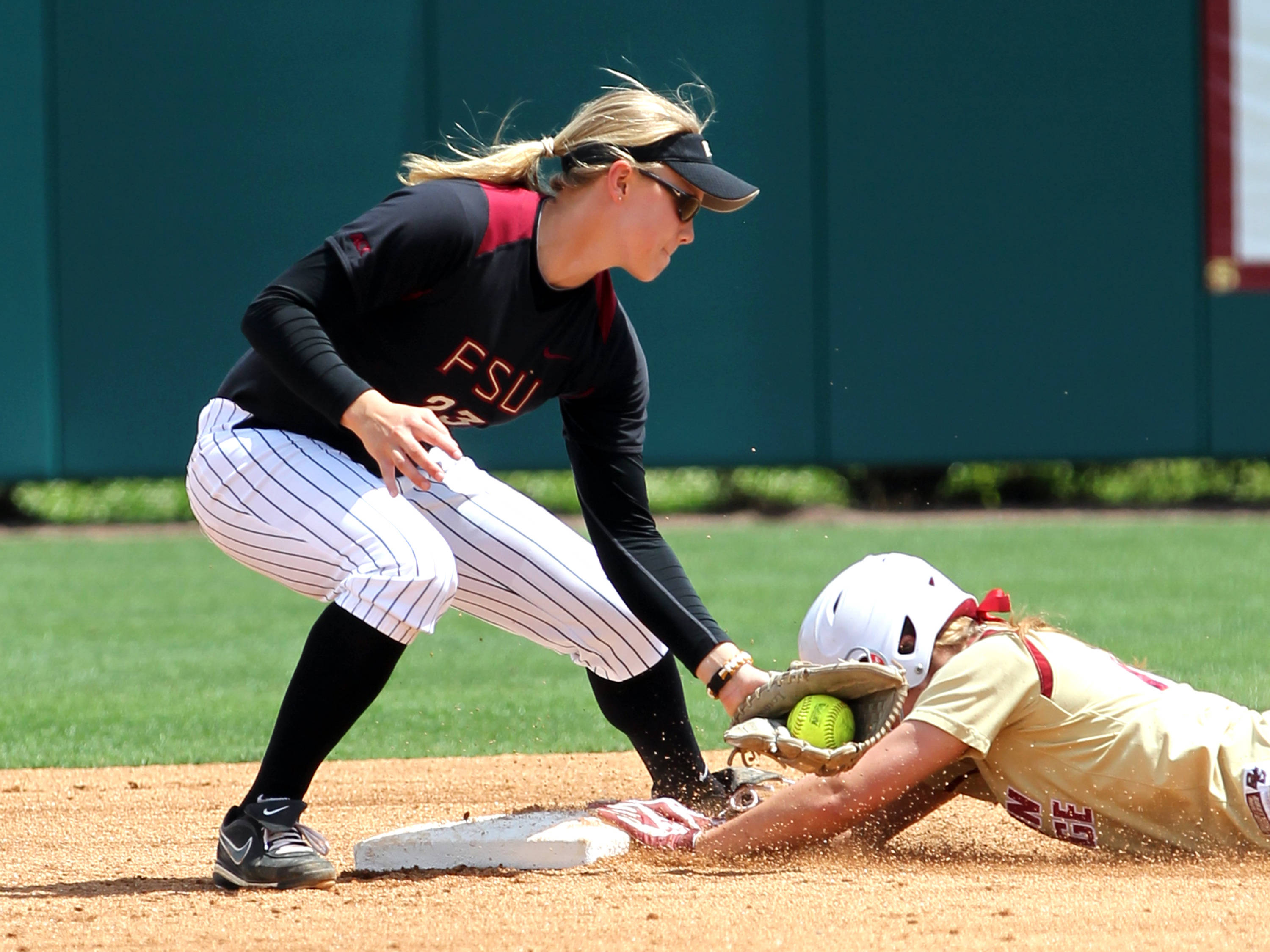Kelly Hensley (23), FSU vs BC, 04/07/13 . (Photo by Steve Musco)
