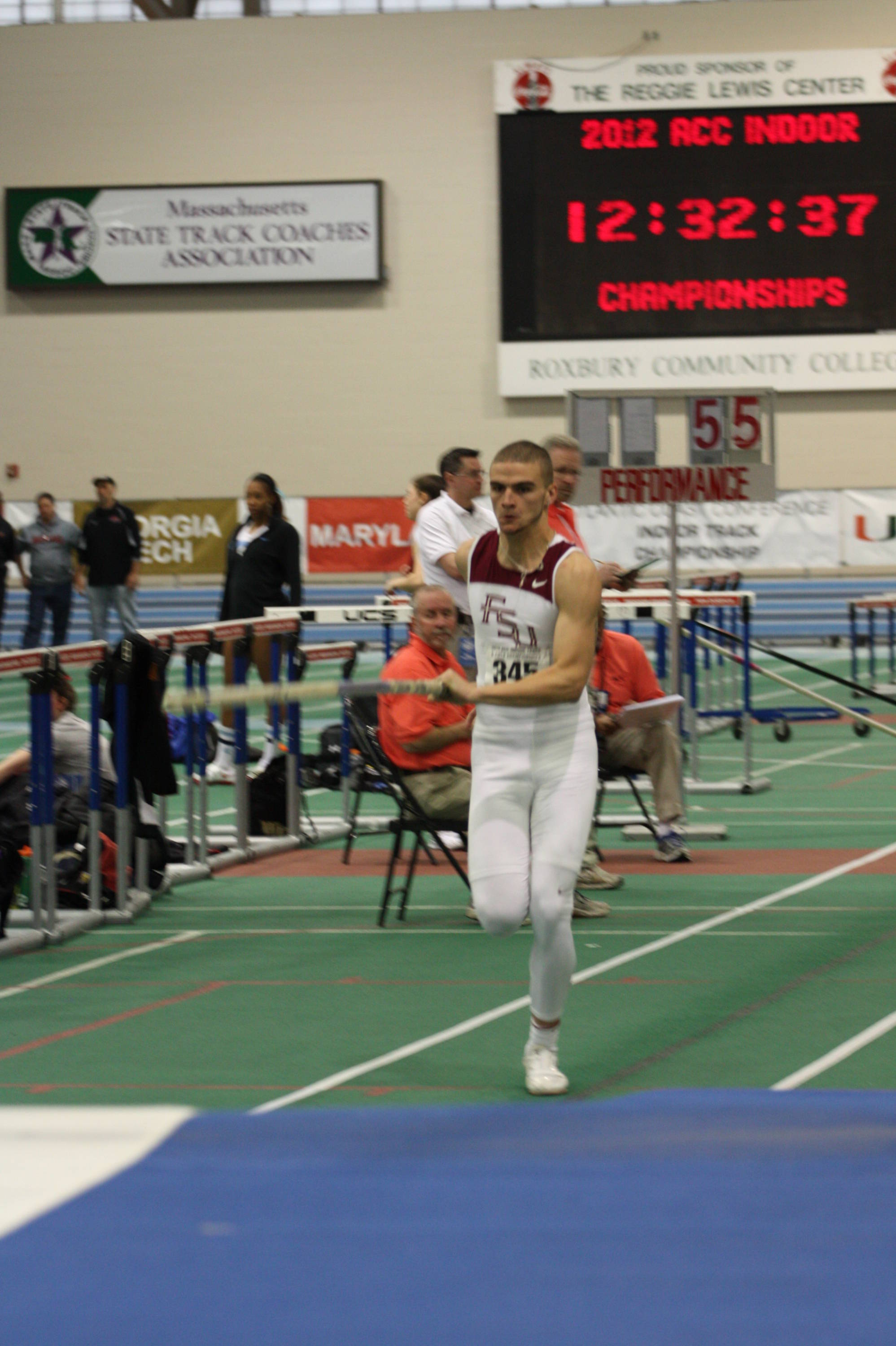 Daniel Salgado had PR's in six of seven events on his way to a sixth-place finish in the heptathlon.