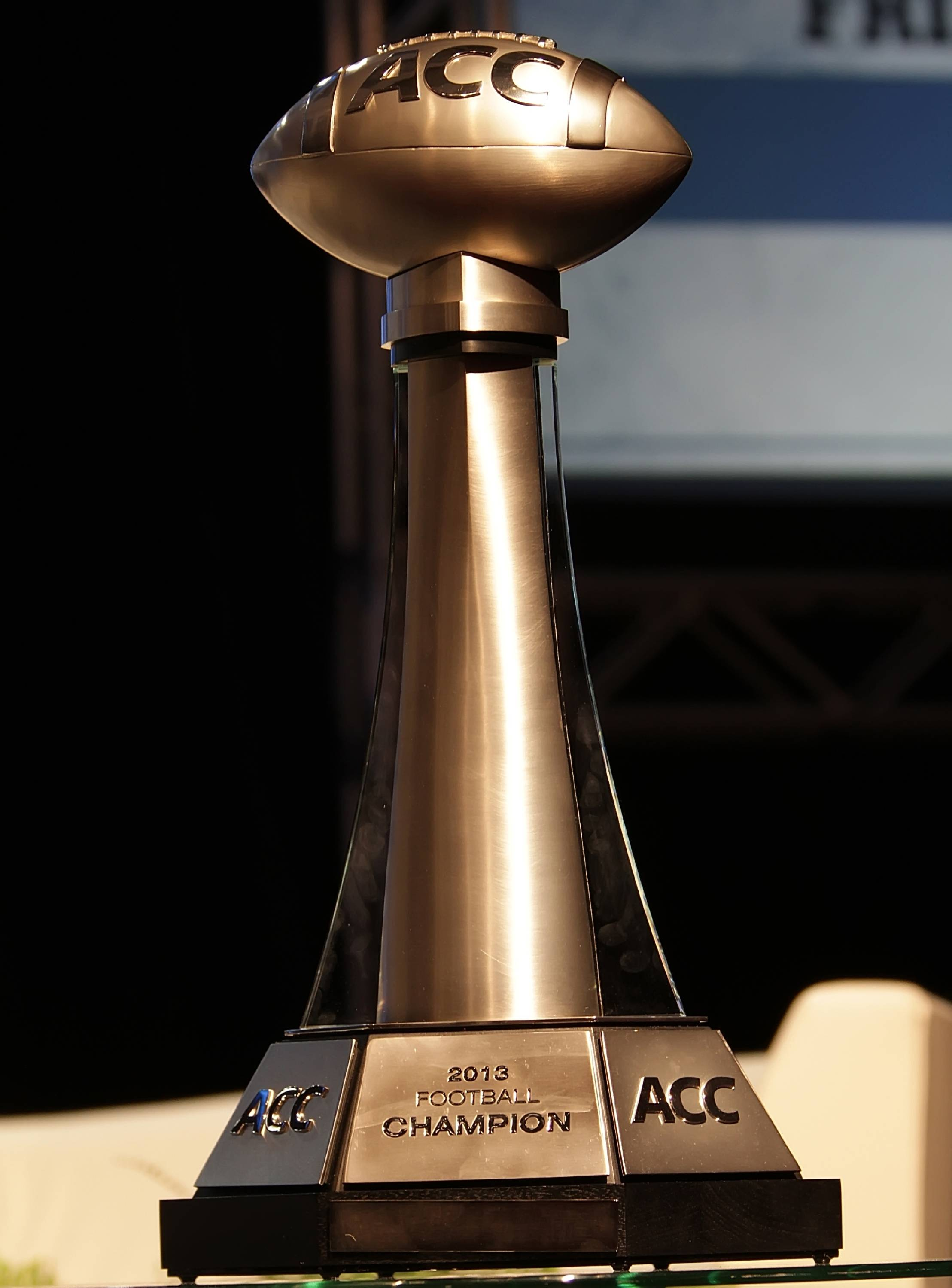 ACC Championship Trophy at the ACC Night of Legends