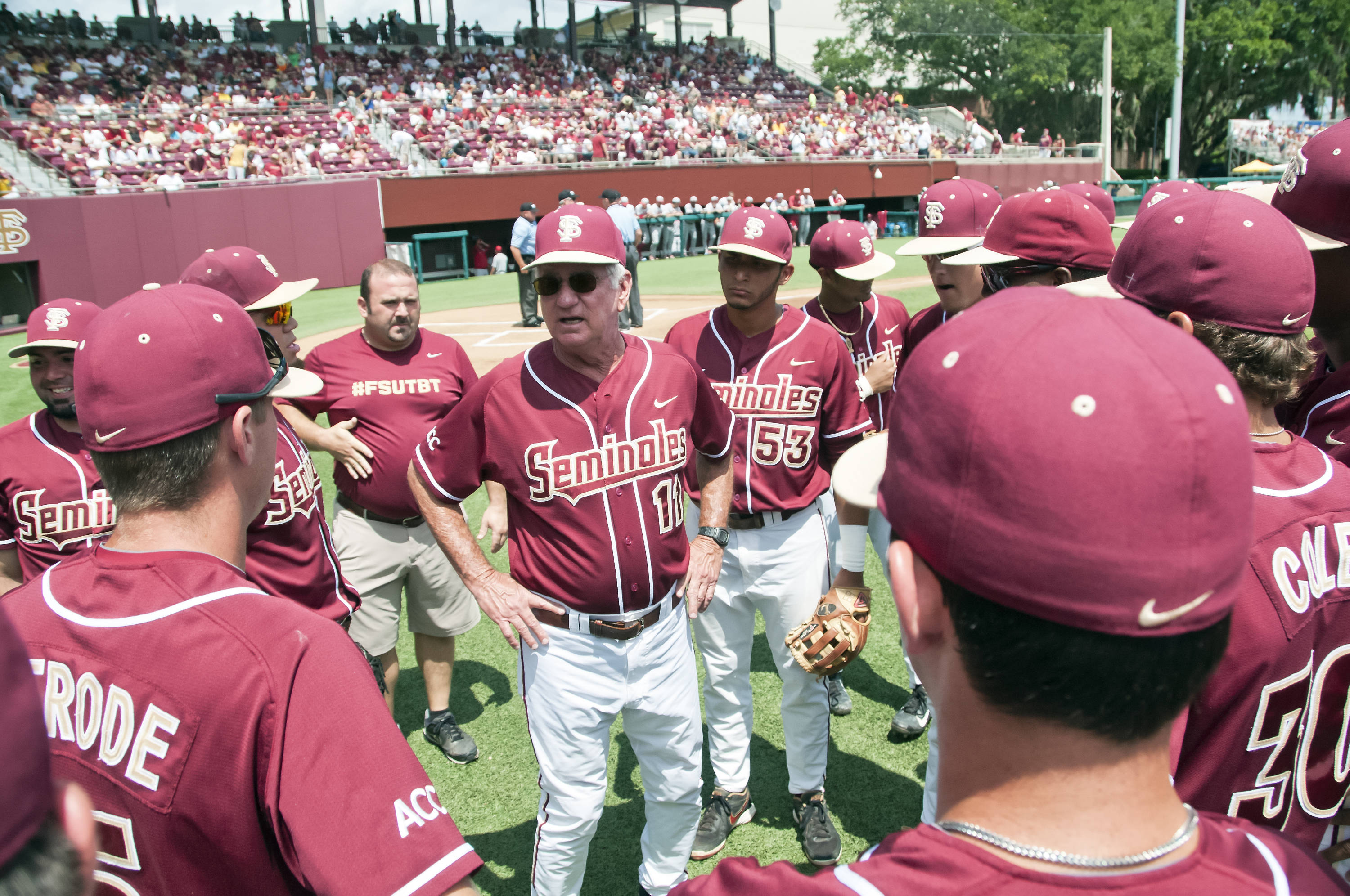 Mike Martin (11) pre-game talk