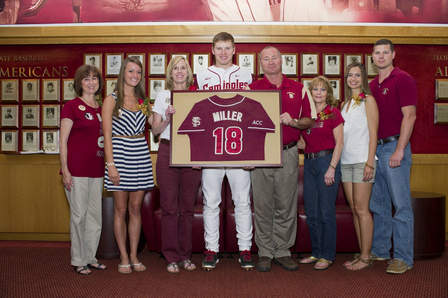 Seth Miller (18) and family members