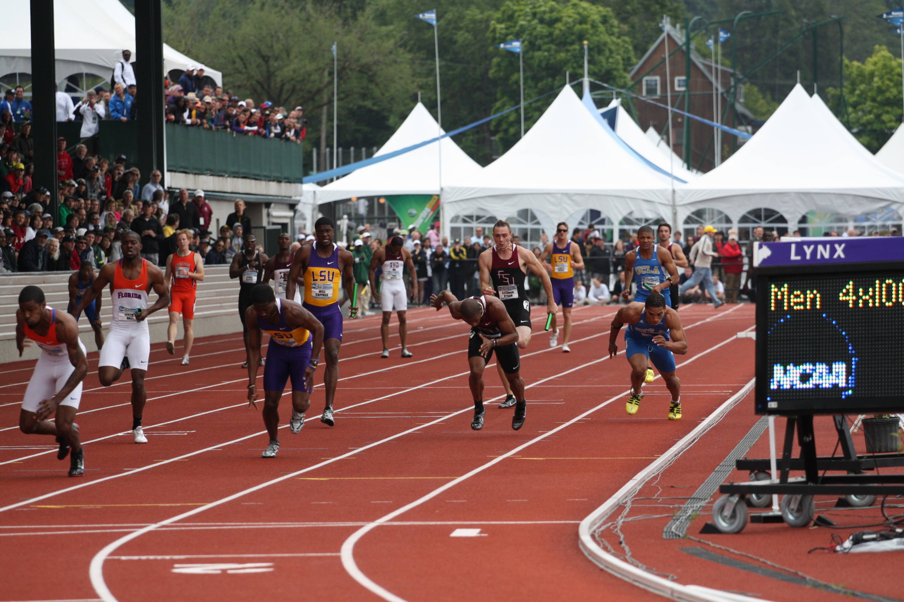 The last day of 2010 NCAA Outdoor Championships.
