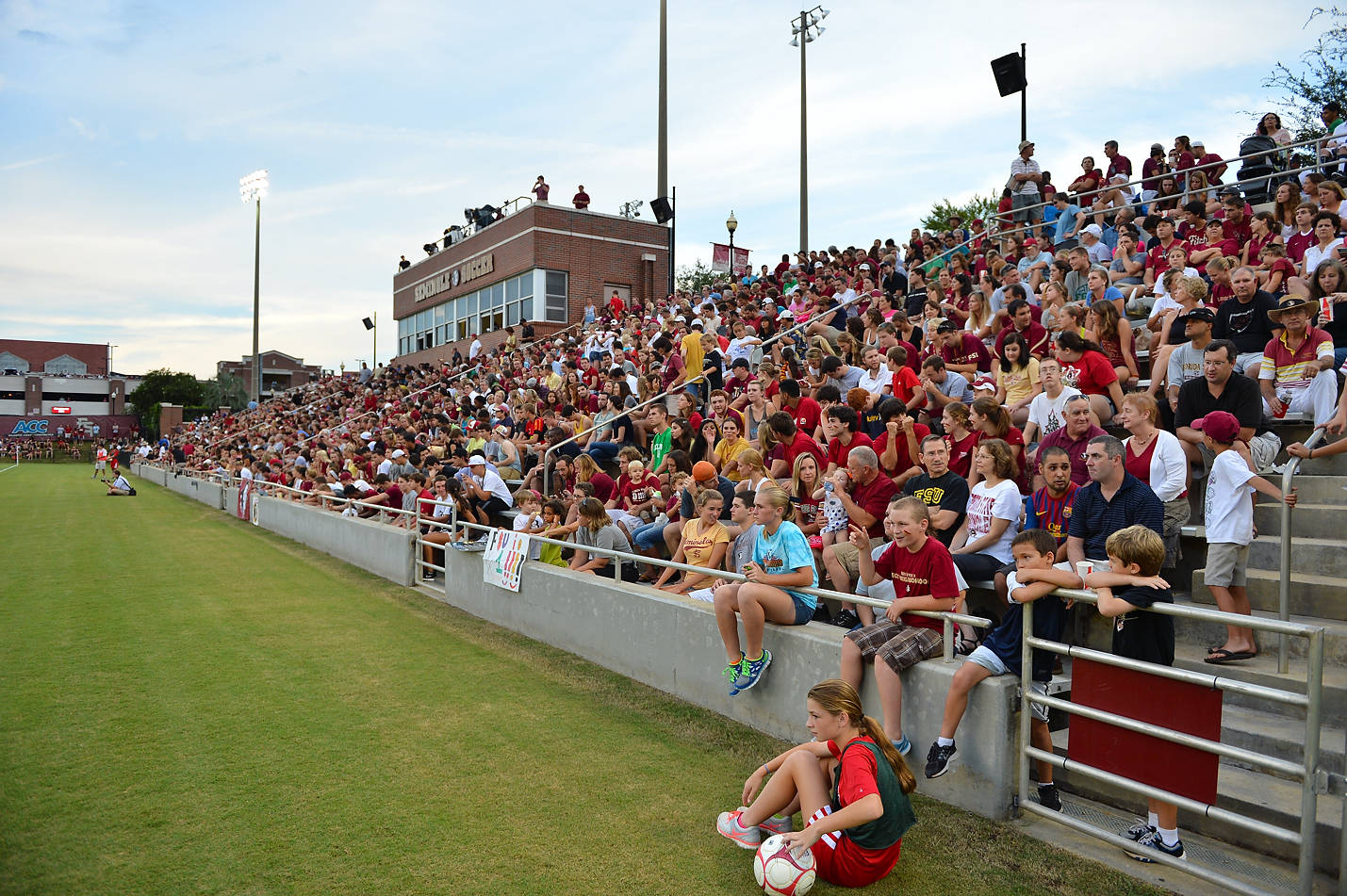 A packed crowd of 2,243 on hand to watch FSU's 1-0 victory over Florida.
