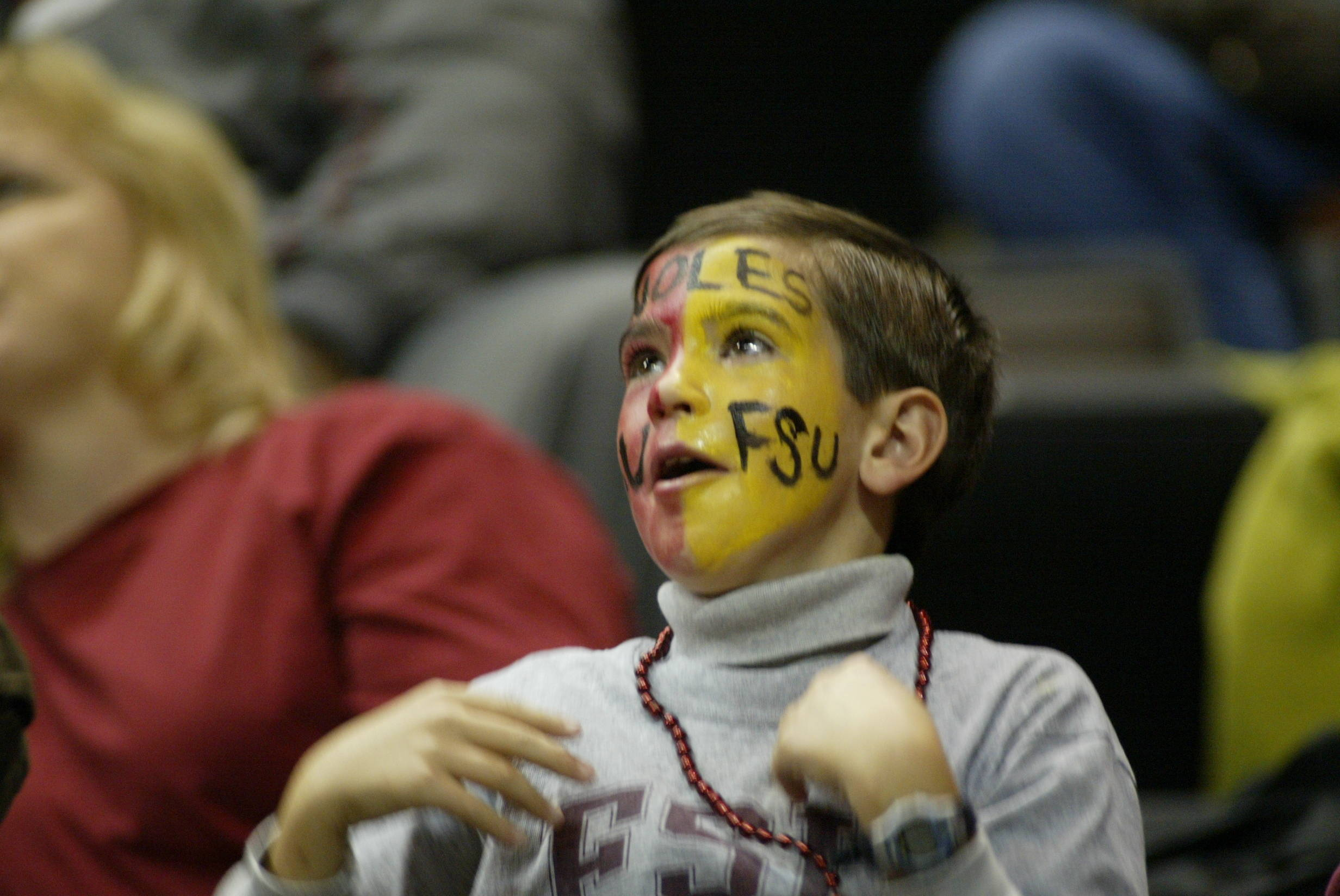 Sept. 10 ... It's not uncommon to see a fan or two with a painted face in support of the Seminoles at the Donald L. Tucker Center on game day.