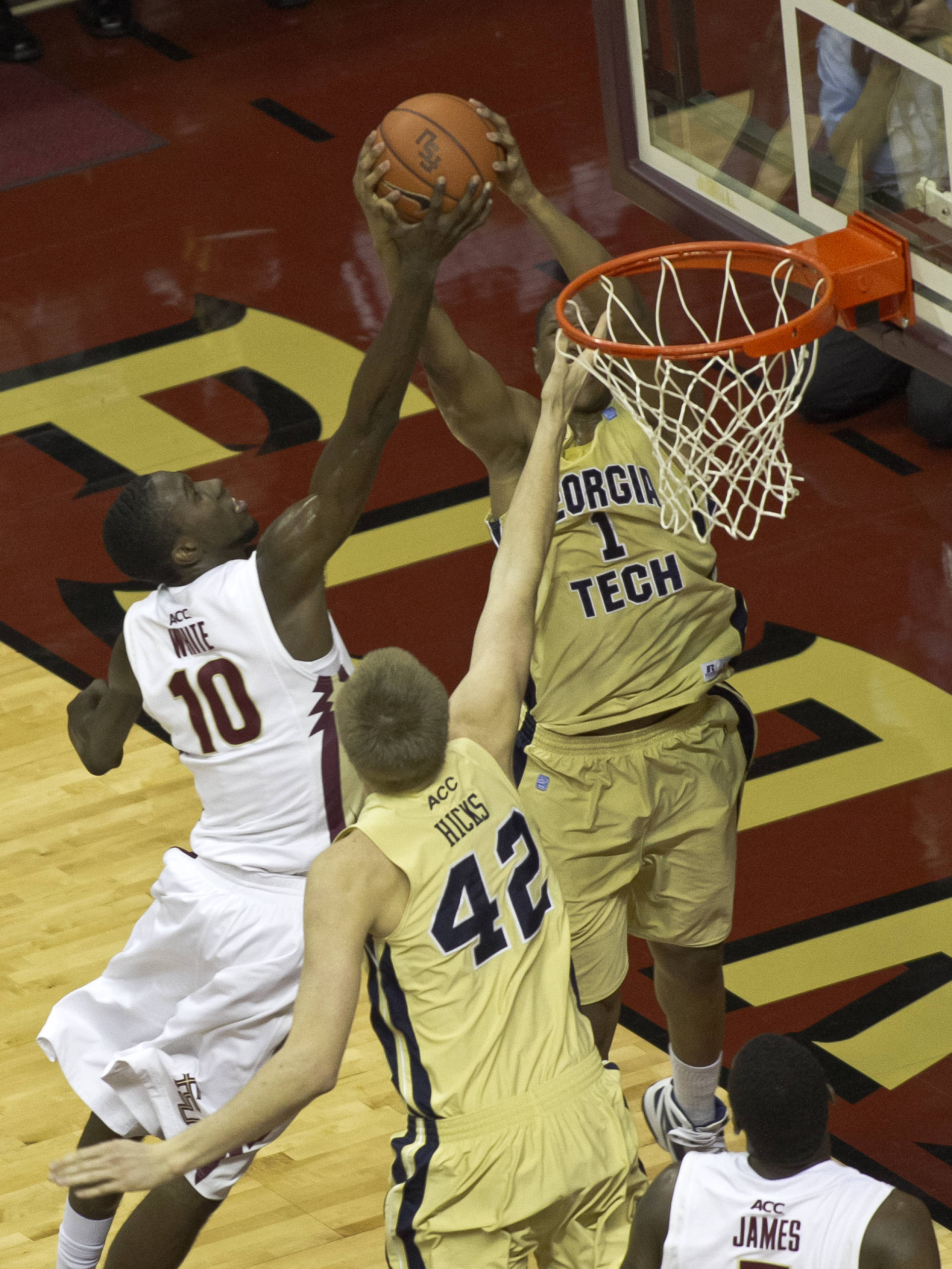 Okaro White (10), FSU vs GT,  02/01/2012