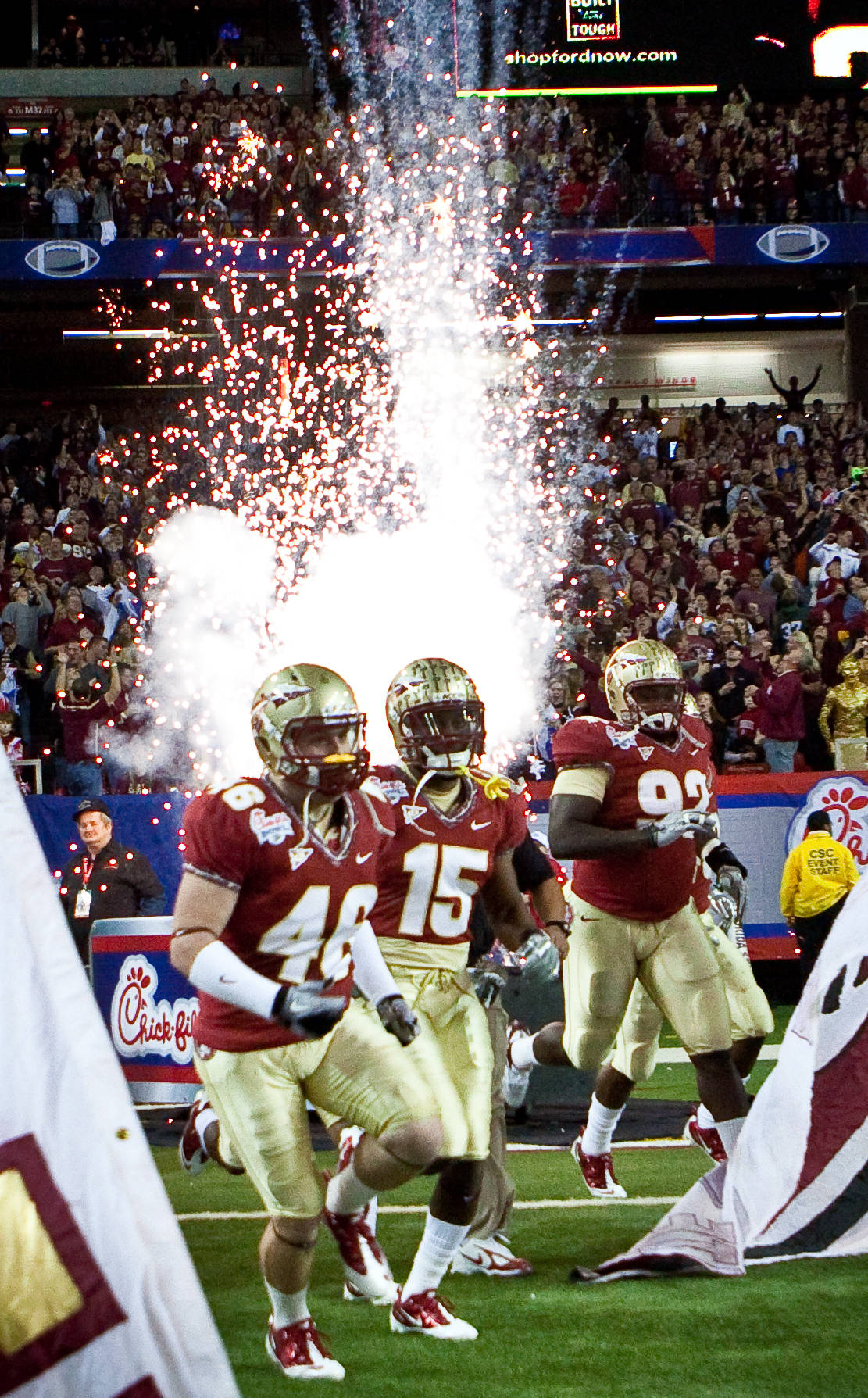 Seminole enter the Georgia Dome