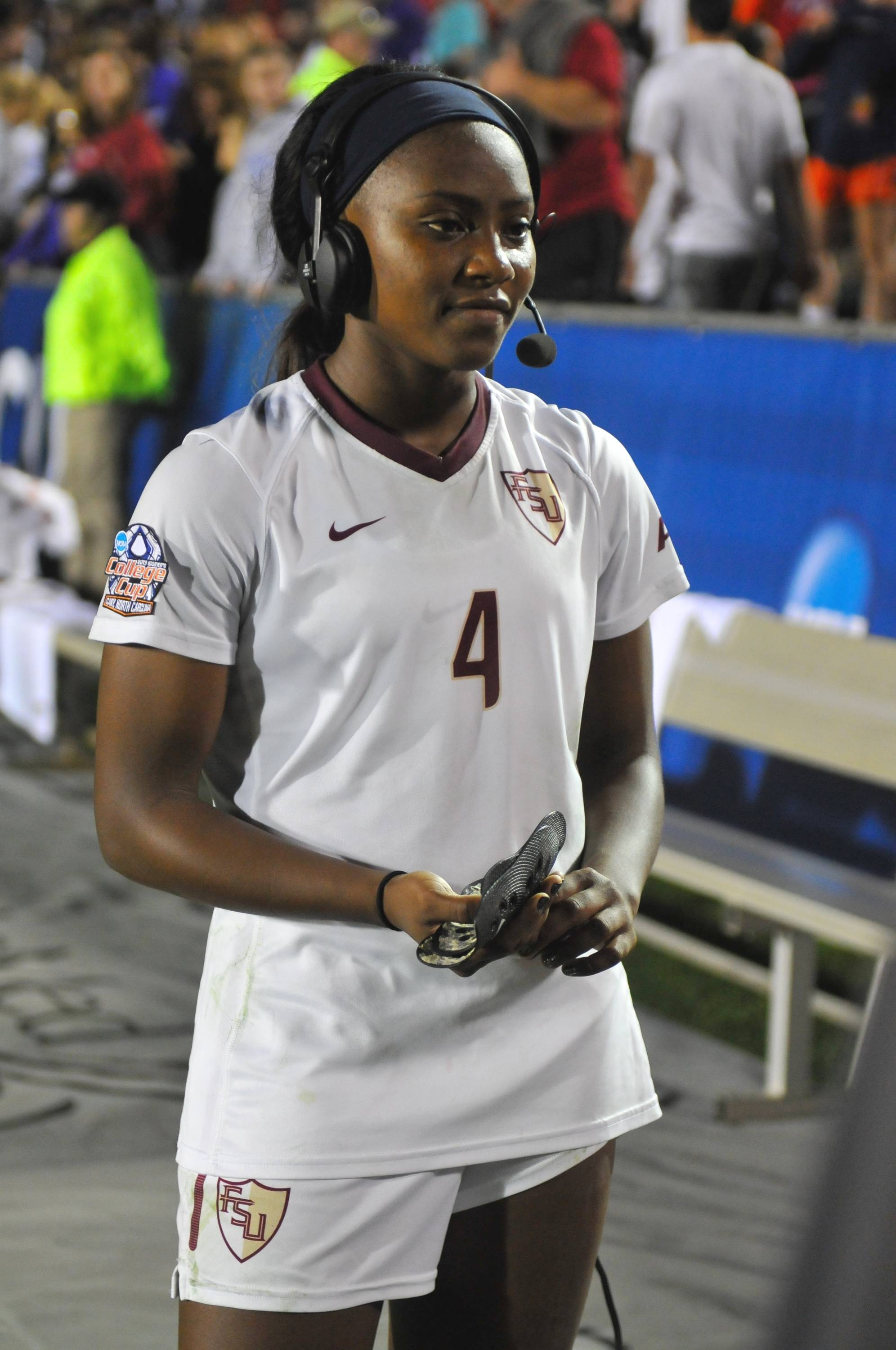 Jamia Fields speaks to ESPN after the match