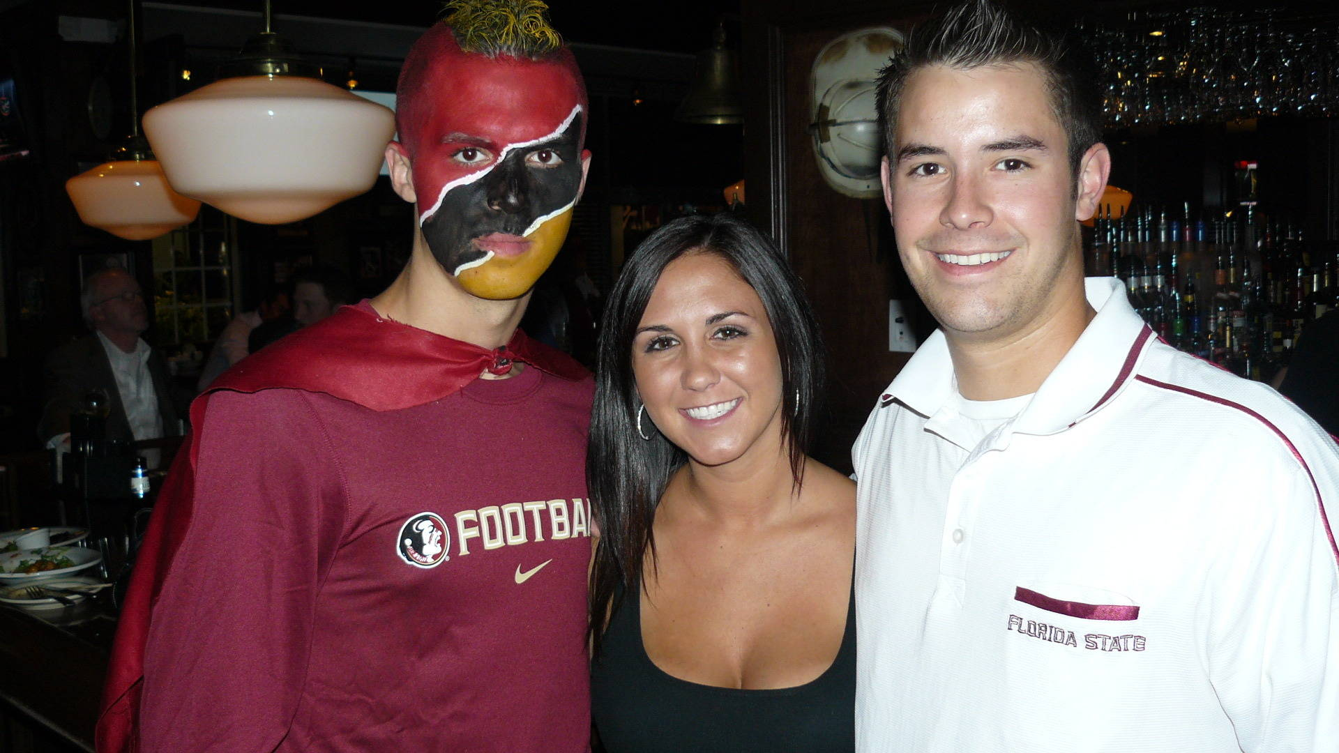 The Road Warriors and Super Noles with members of the Charlotte Seminole Booster Club.
