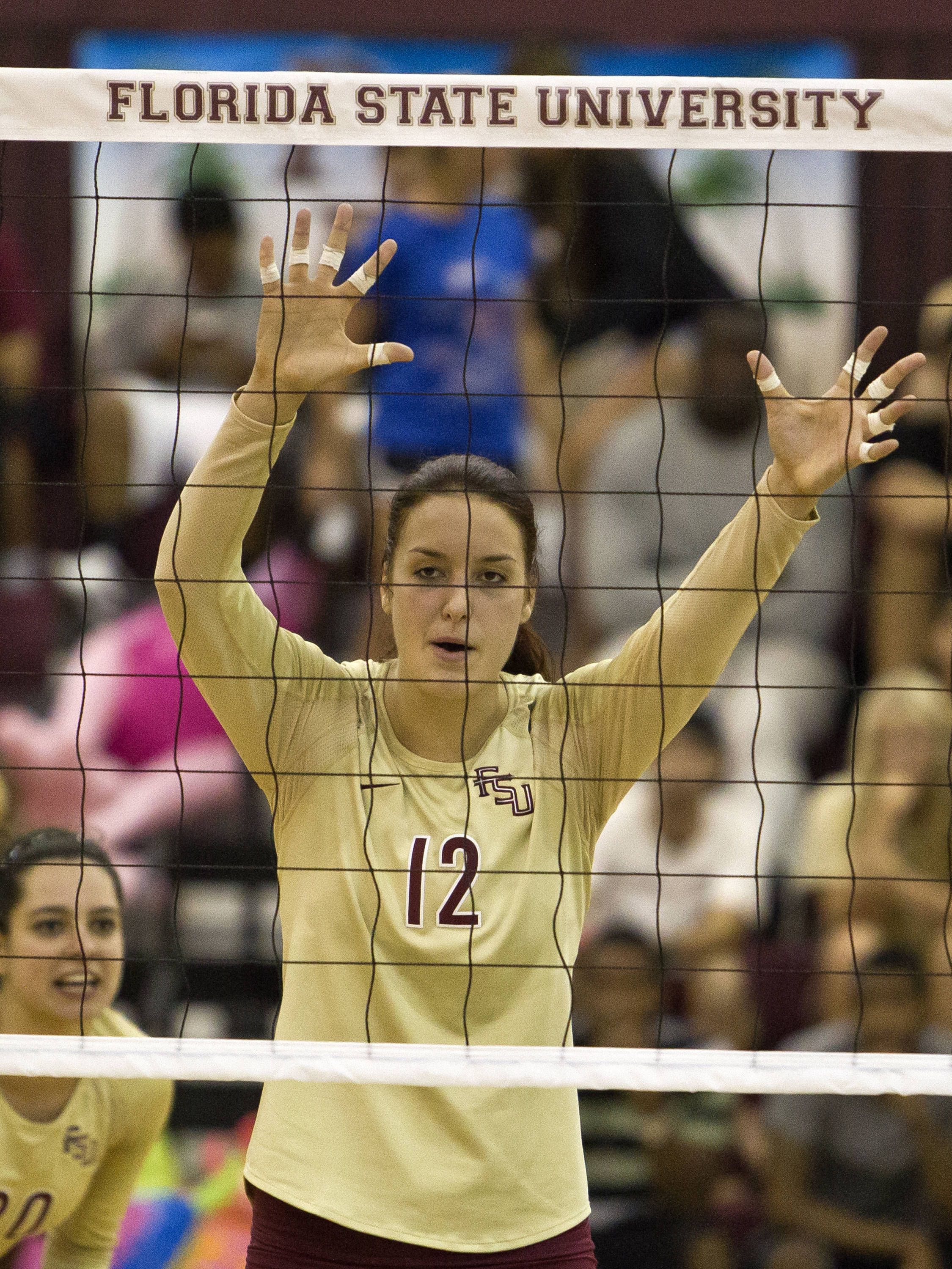 Marija Milosavljevic (12), FSU vs NC, 10/05/12 (Photo by Steve Musco)