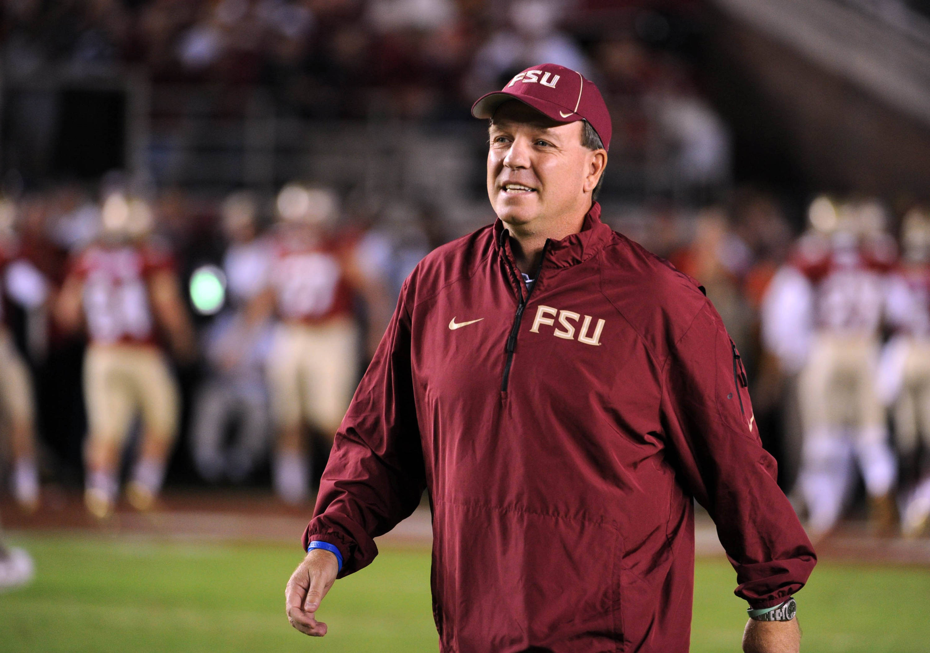 Florida State Seminoles head coach Jimbo Fisher before the start of the game against the Miami Hurricanes at Doak Campbell Stadium. Mandatory Credit: Melina Vastola-USA TODAY Sports