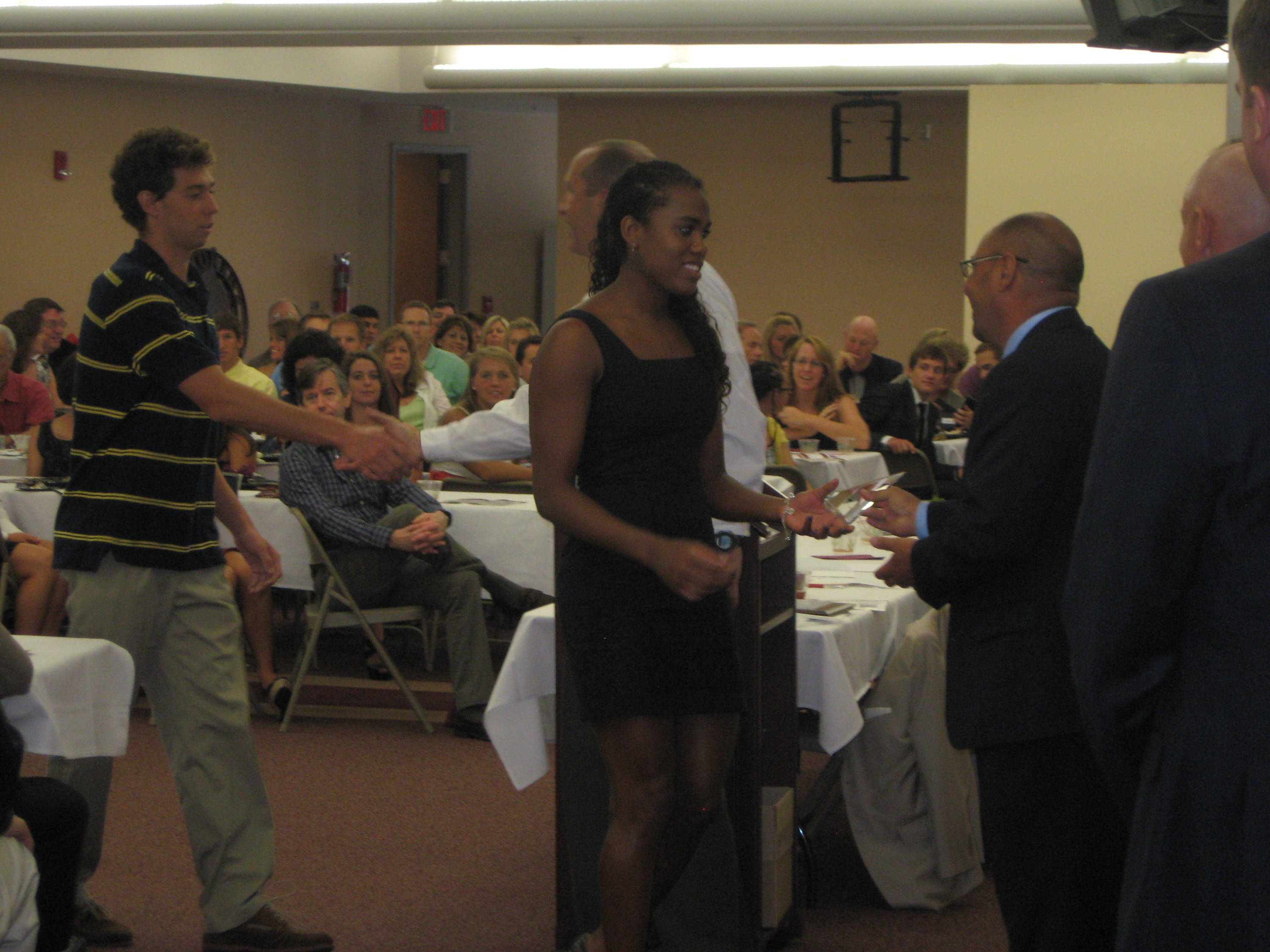 2011 Swimming and Diving Banquet: Tiffany Oliver and Tyler Sell