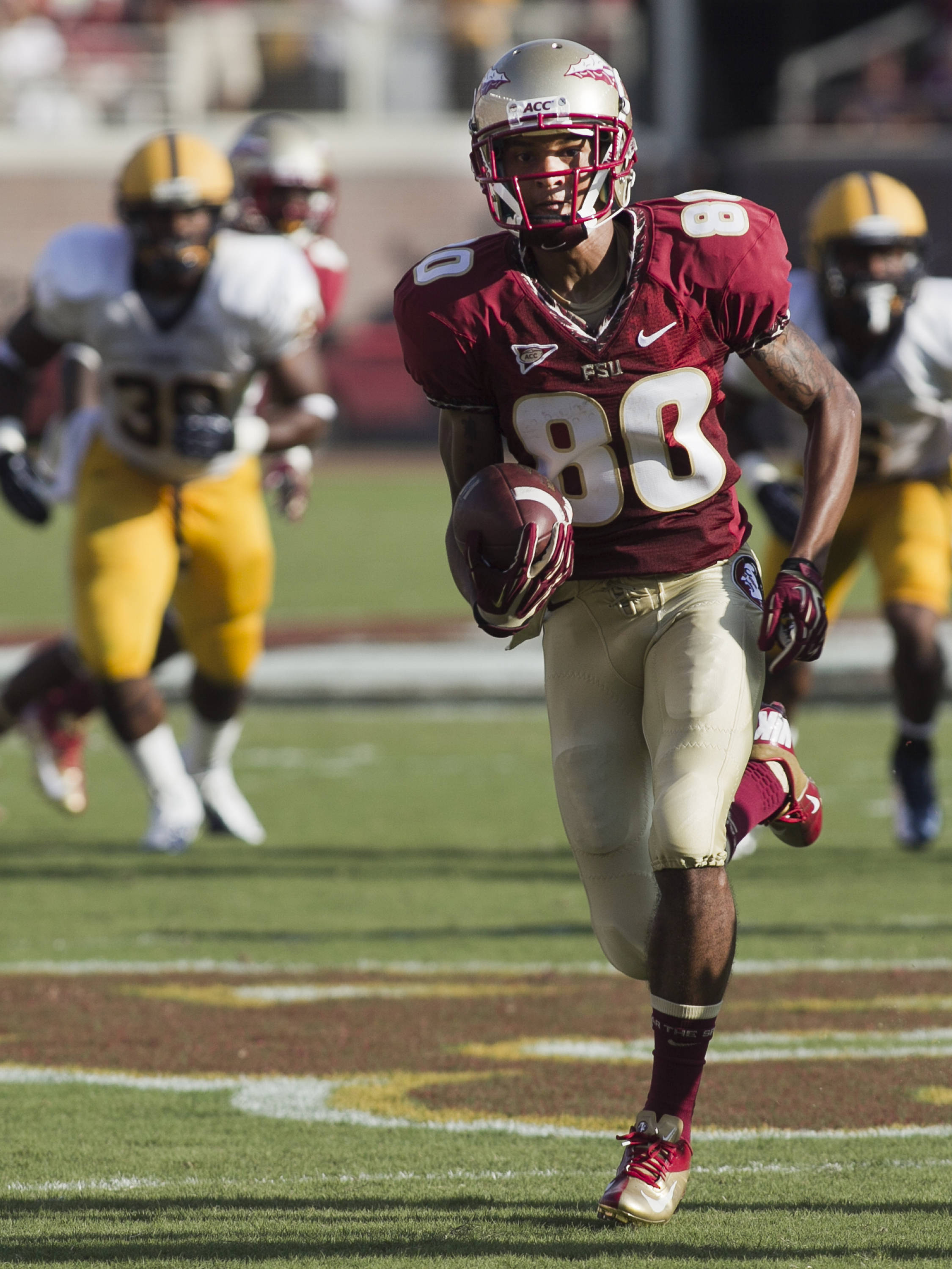 Rashad Greene (80),  FSU vs Murray State, 9/1/12 (Steve Musco)
