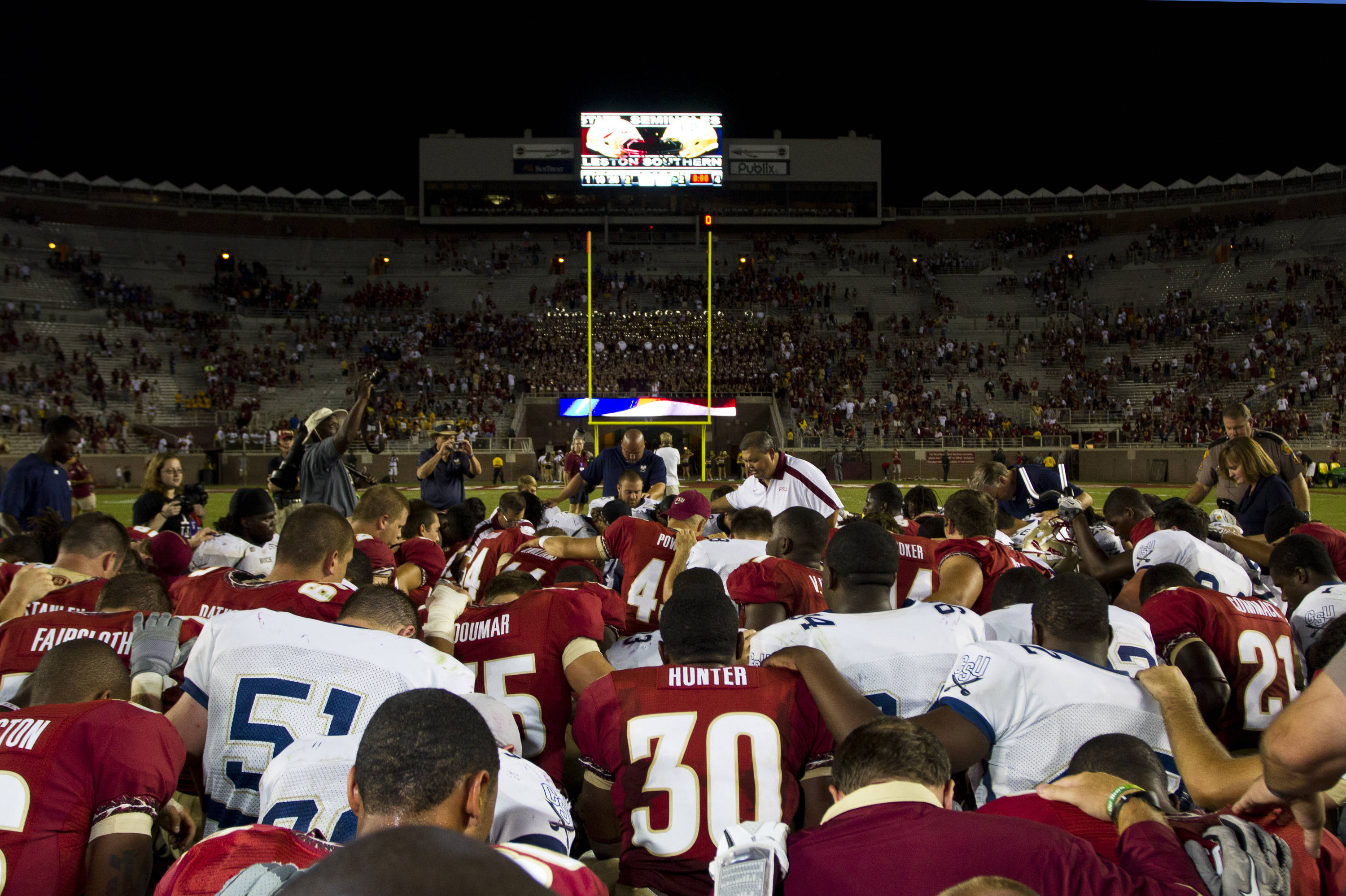 Post game, FSU vs CSU on September 10, 2011.