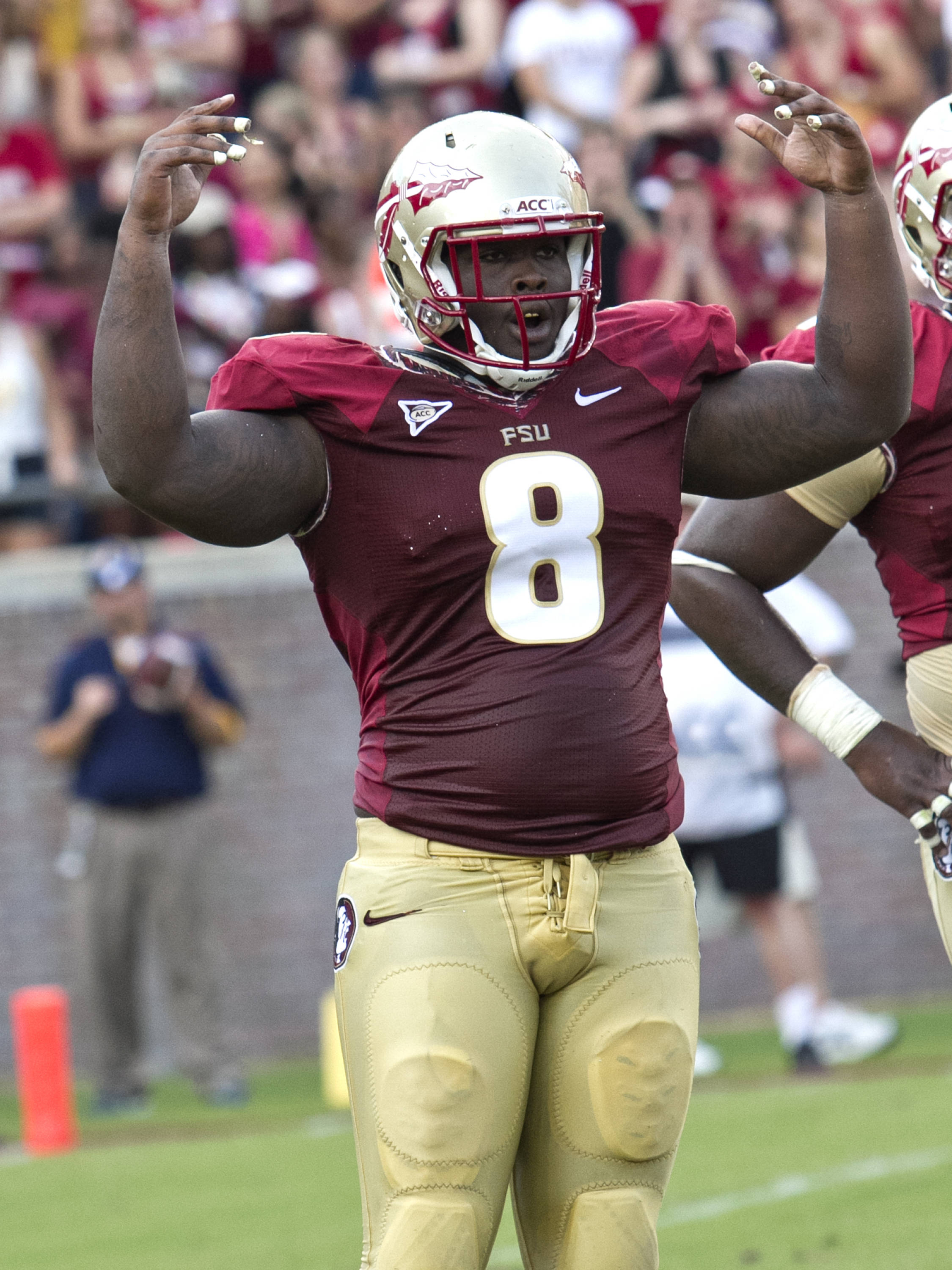 Timmy Jernigan (8),  FSU vs Murray State, 9/1/12 (Steve Musco)