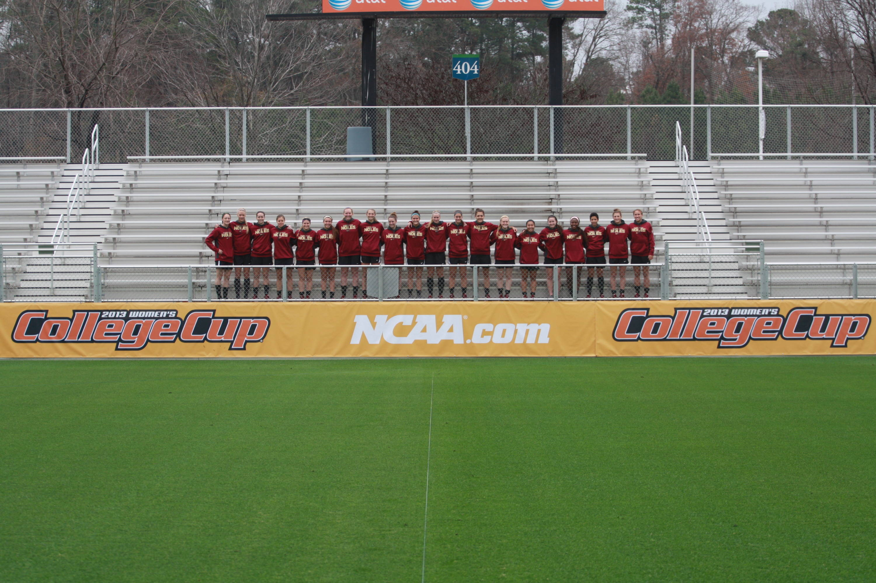 Florida State checking out the inside of WakeMed Park.