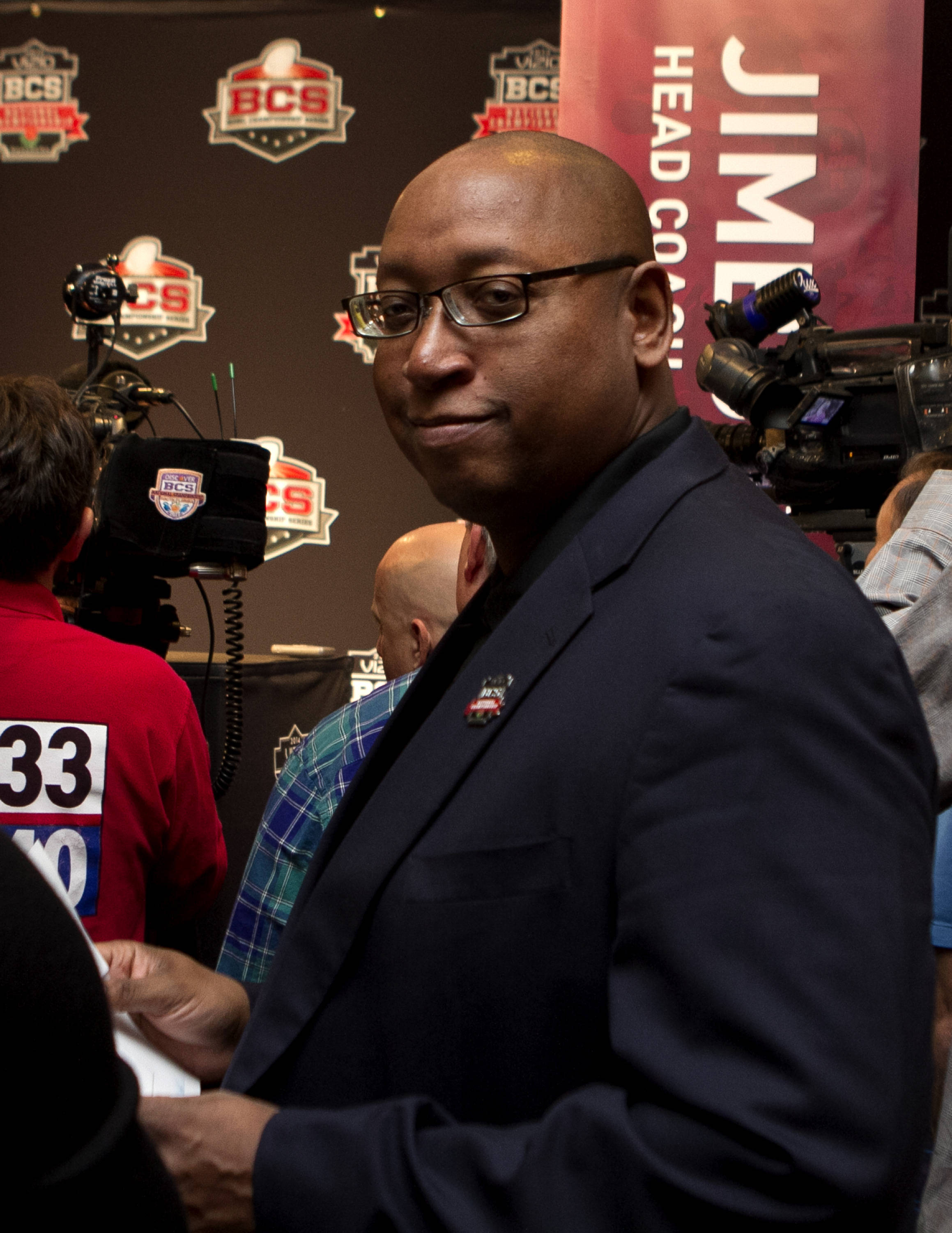 FSU Athletic Director Stan Wilcox, FSU at BCS Championship Media Day,  1-04-14,  (Photo by Steve Musco)