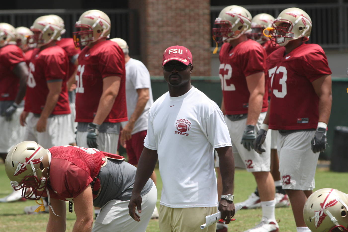 FSU Seminoles preparing for Saturday's scrimmage.