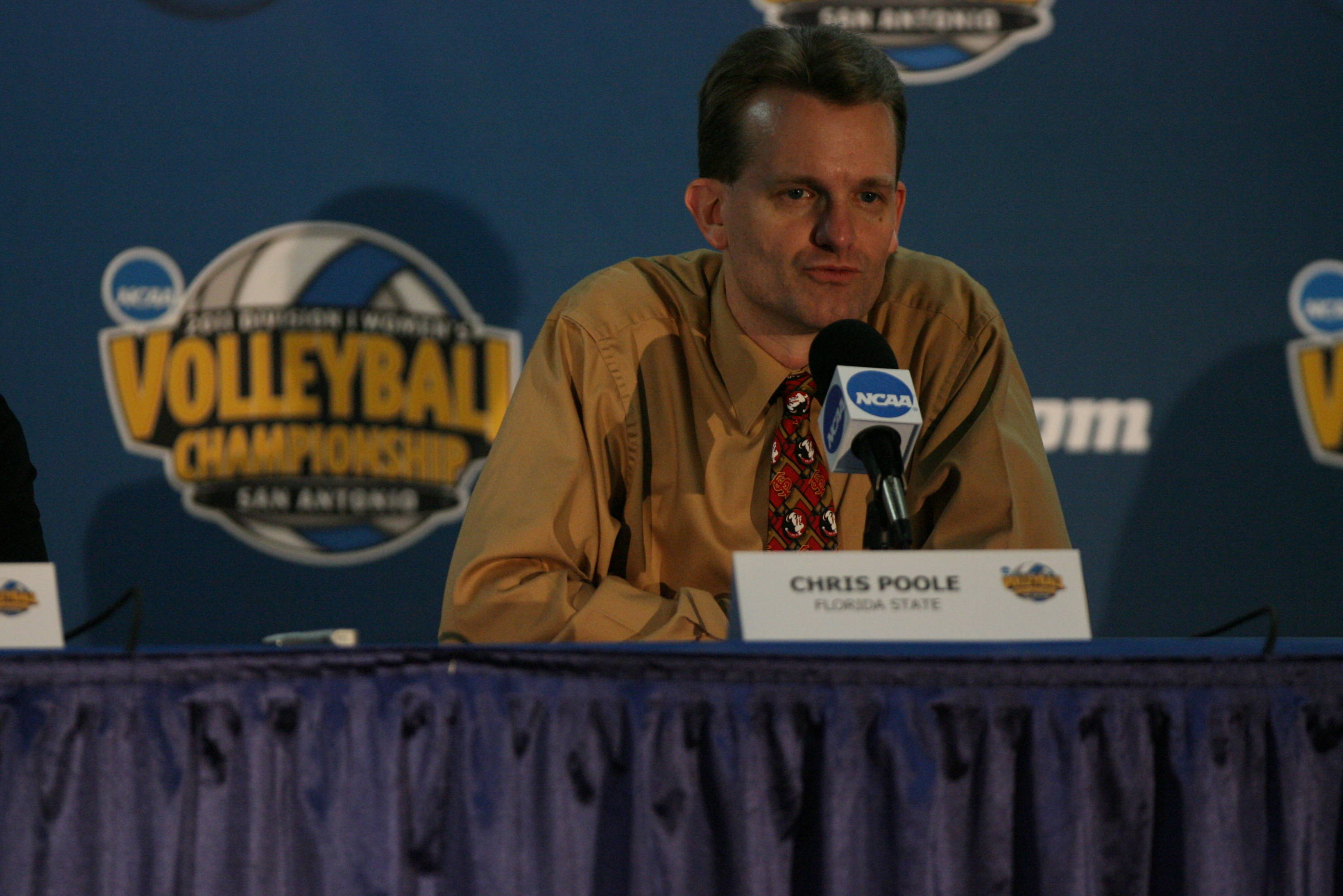 Head coach Chris Poole at post-game press conference