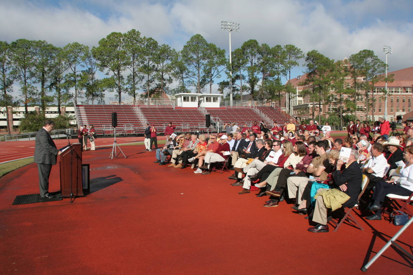 A look at the crowd on hand for the dedication.